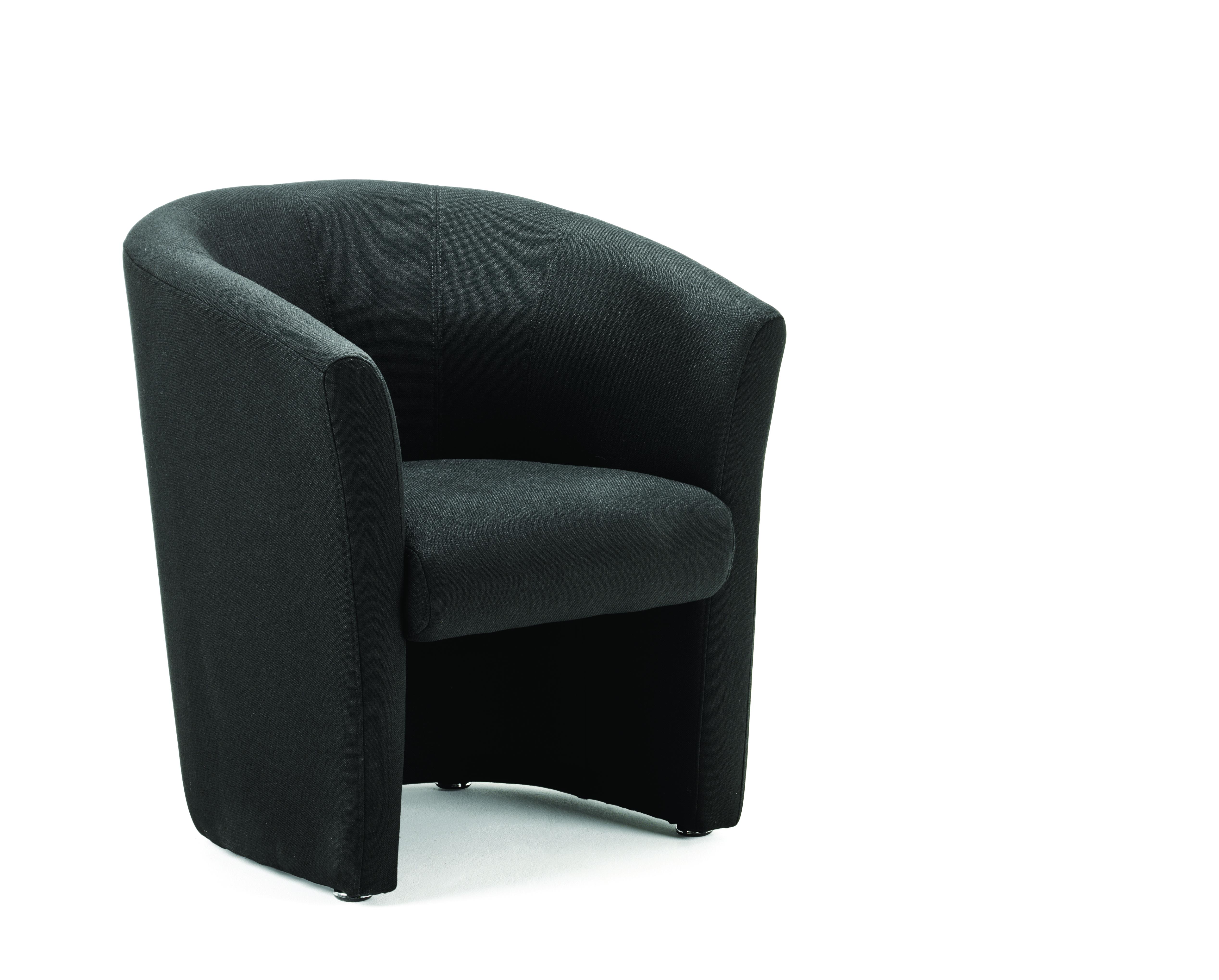 Reception Chairs Neo Single Tub Black Fabric BR000099