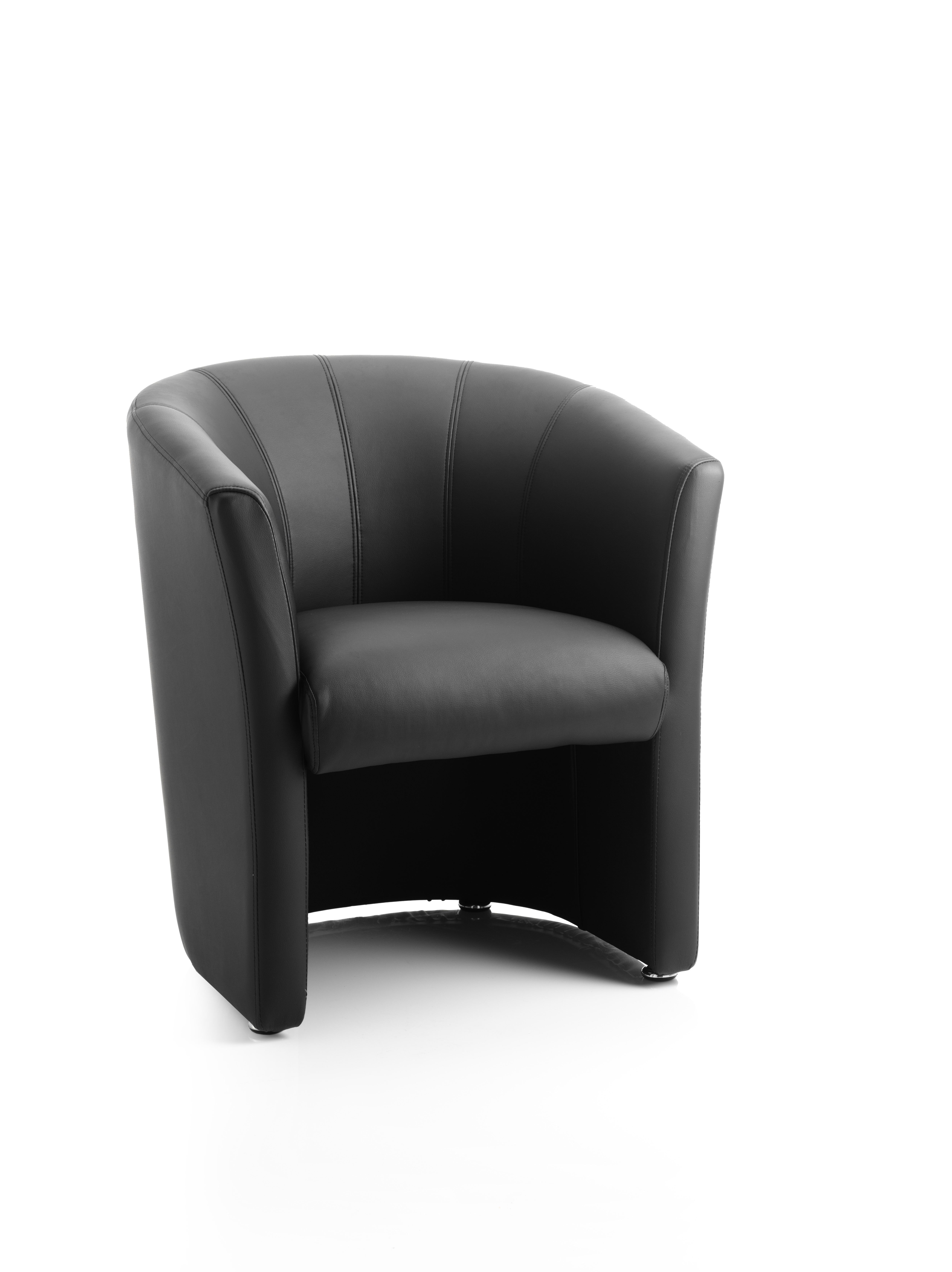 Reception Chairs Neo Single Tub Black Leather BR000100