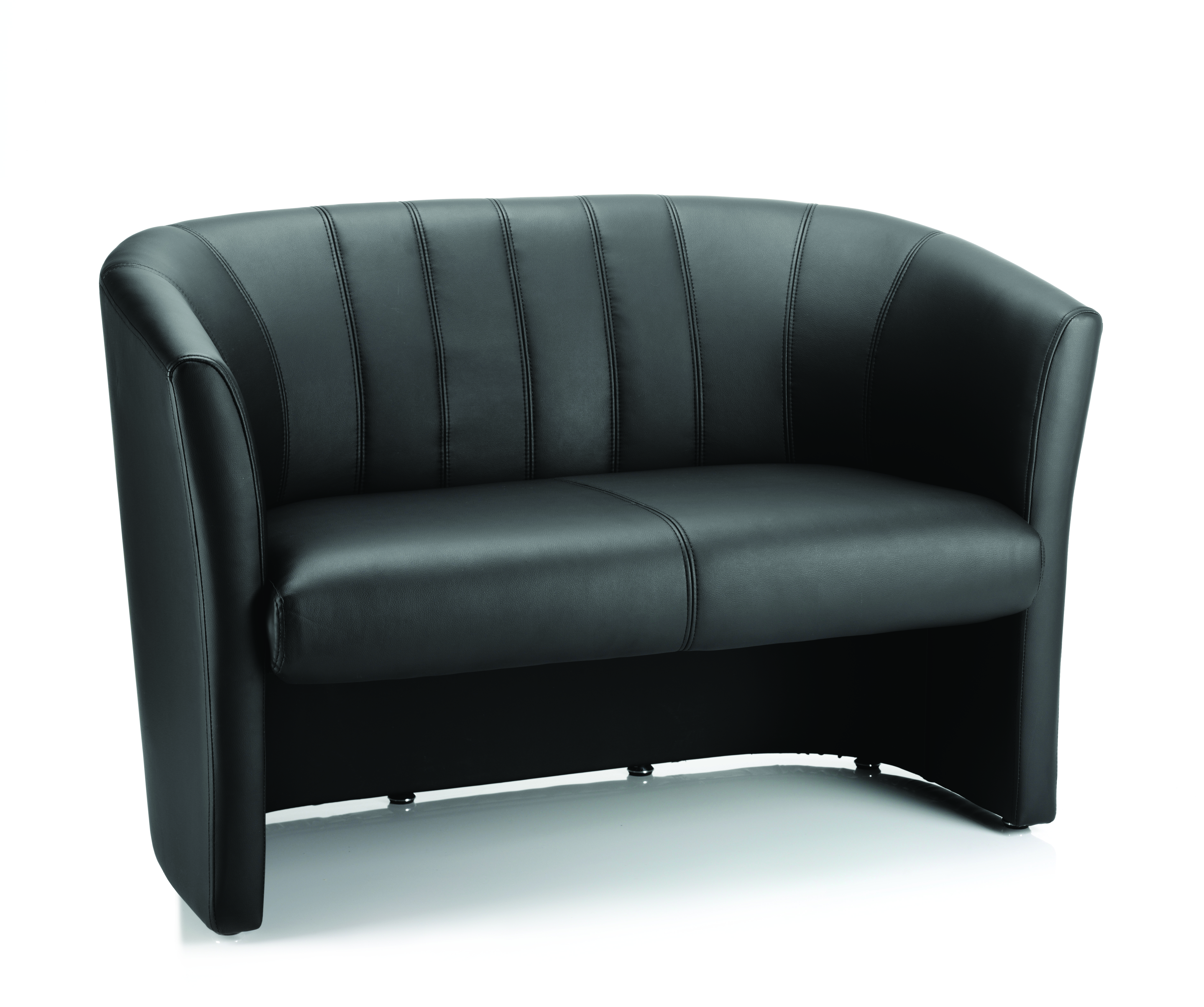 Reception Chairs Neo Twin Tub Black Leather BR000105