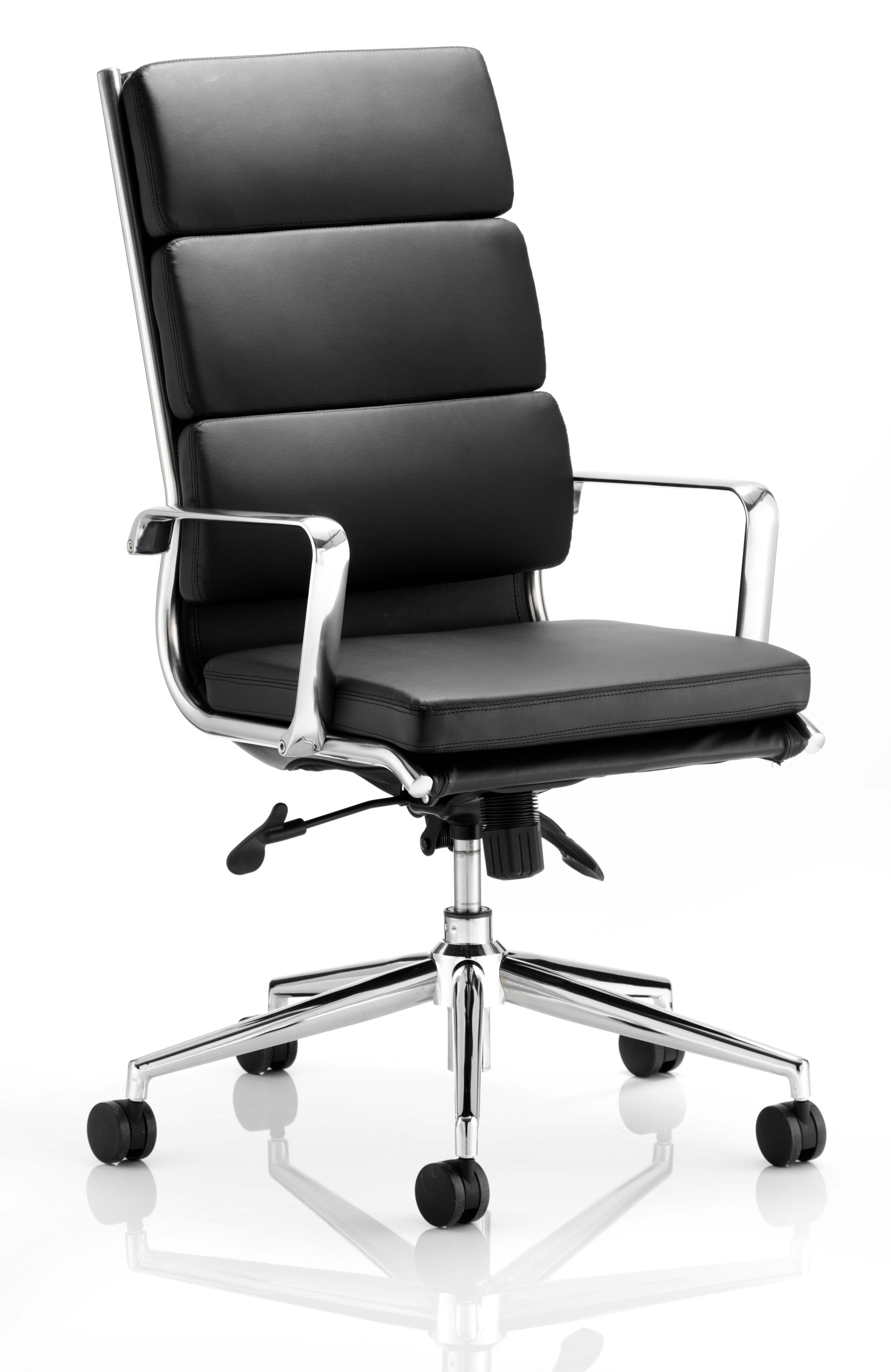 Executive Chairs Savoy Executive High Back Chair Black Soft Bonded Leather EX000067
