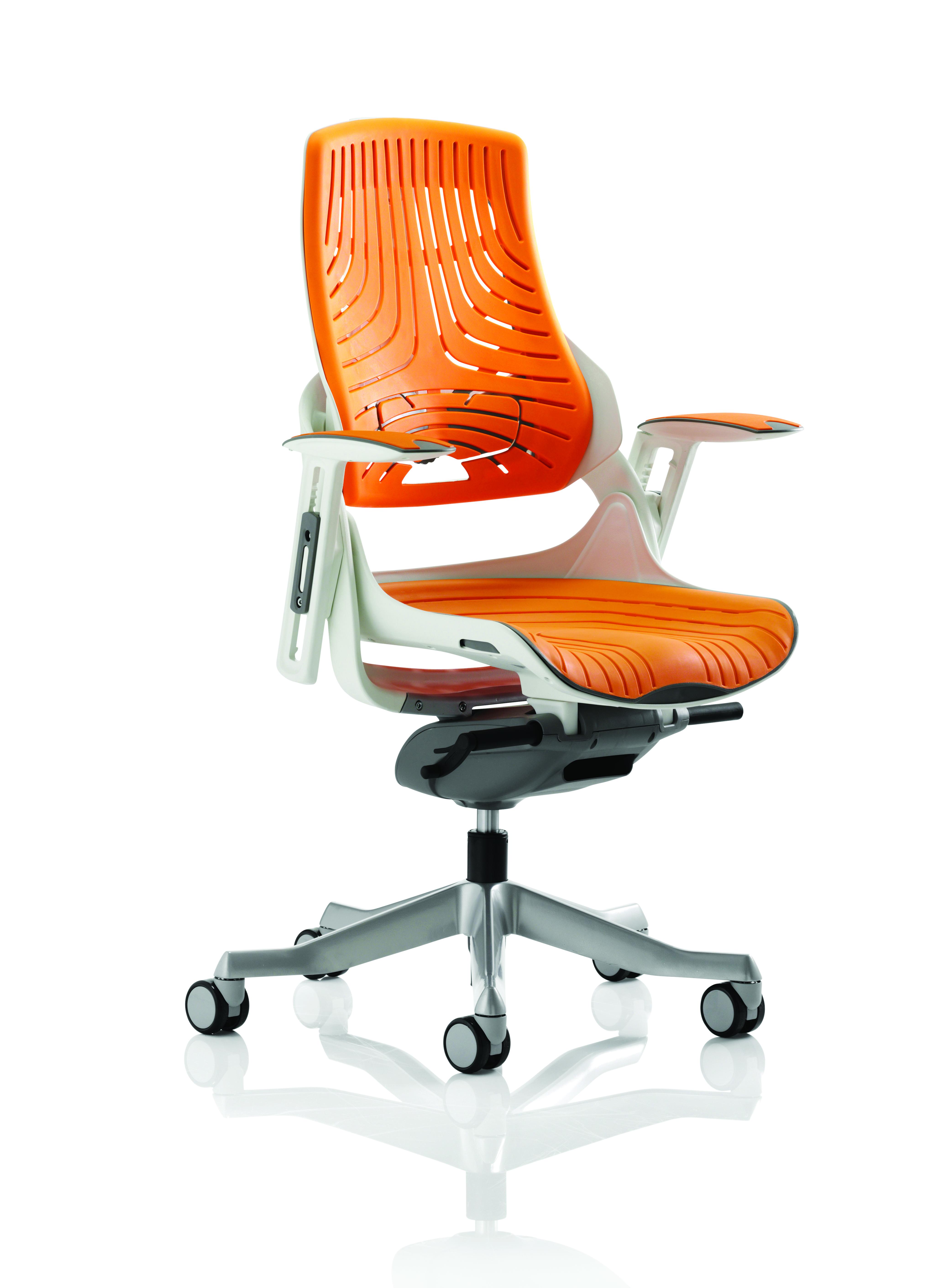 Executive Chairs Zure Elastomer Gel Orange With Arms EX000133