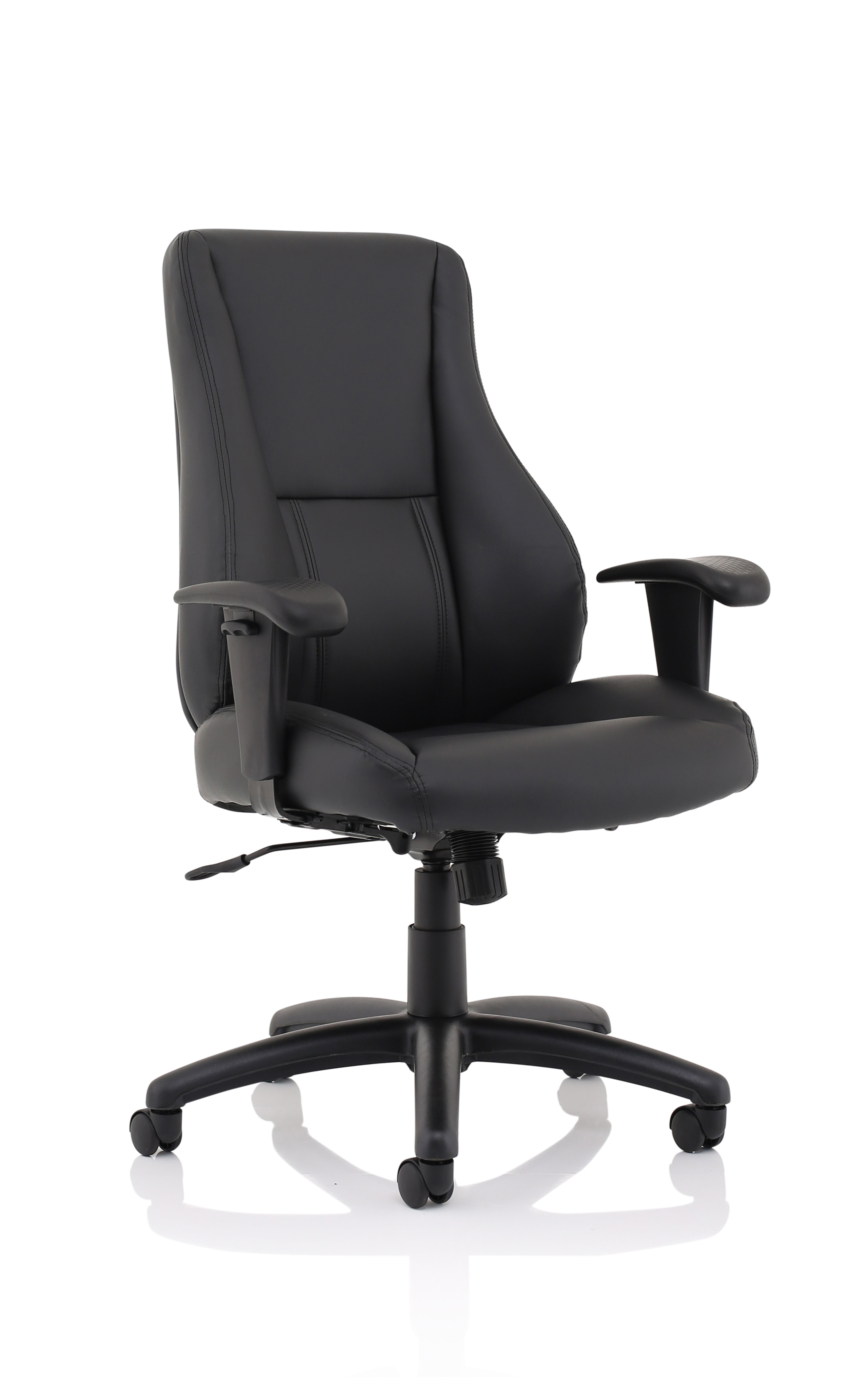 Executive Chairs Winsor Black Leather Chair No Headrest EX000212
