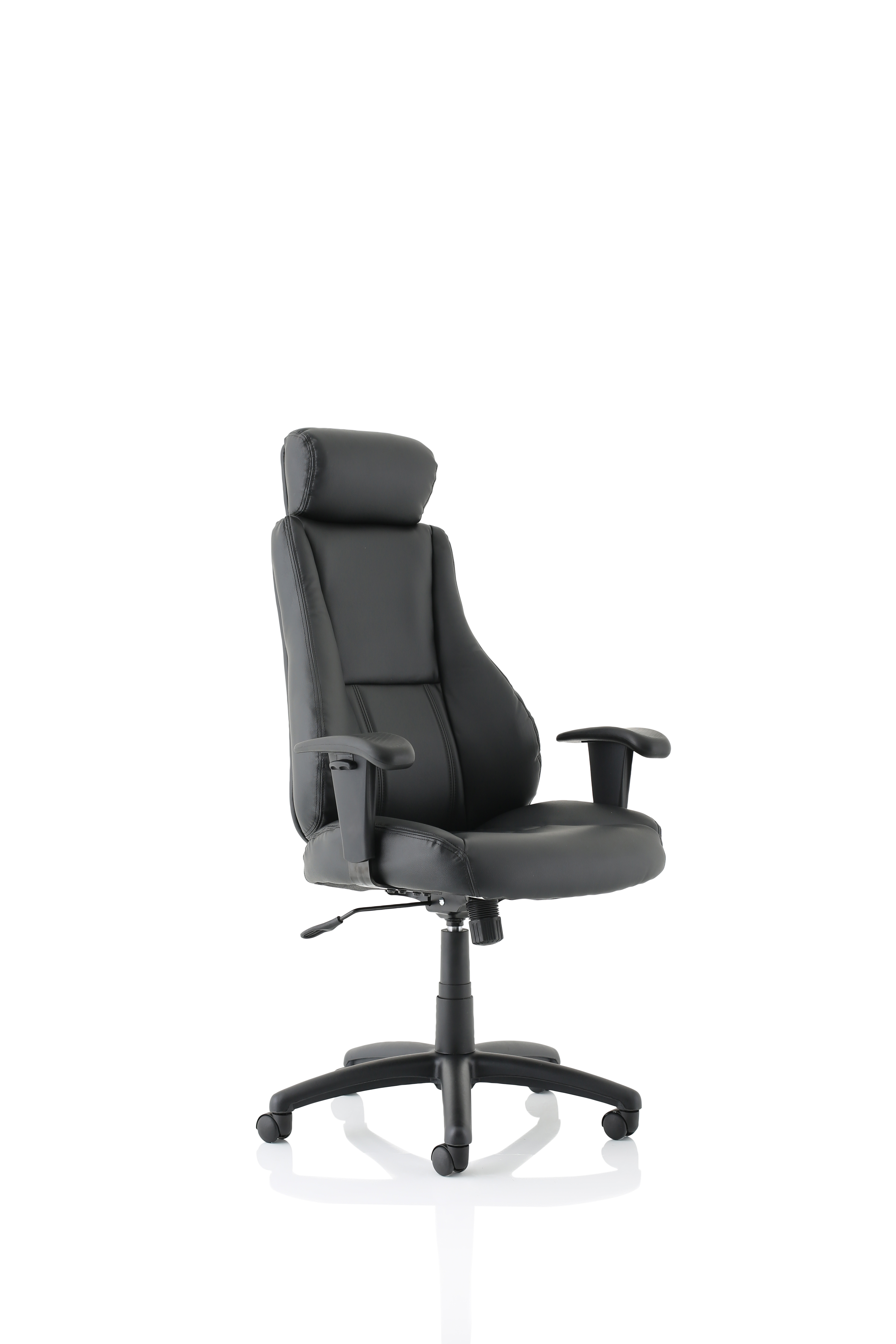 Executive Chairs Winsor Black Leather Chair With Headrest EX000213