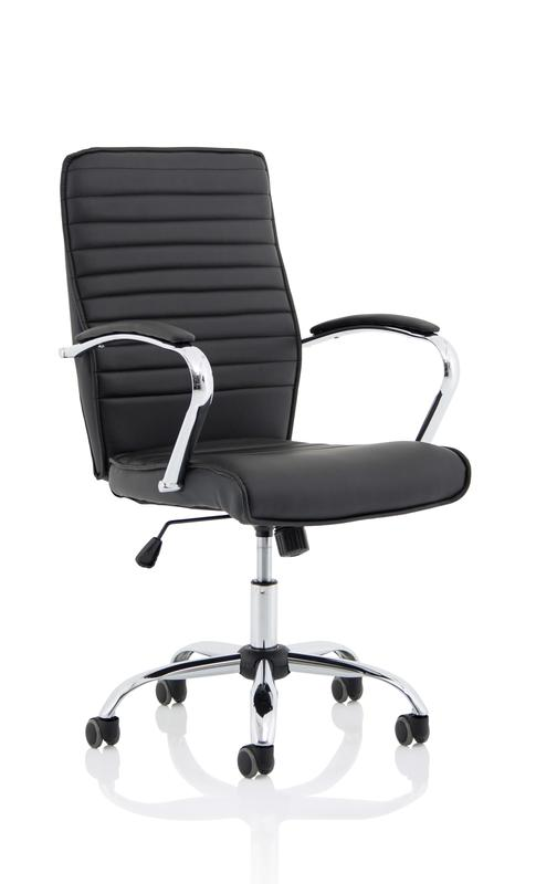 Executive Chairs Abbey Black Leather Look Chair EX000225