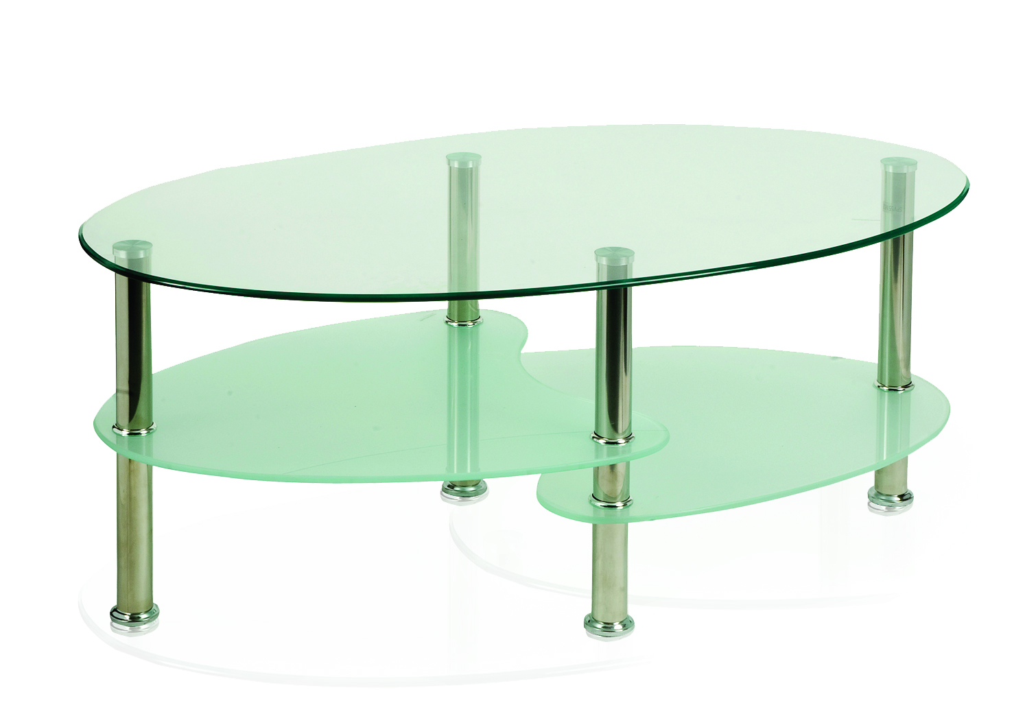 Reception Berlin Coffee Table With Chrome Legs And Shelves FR000001