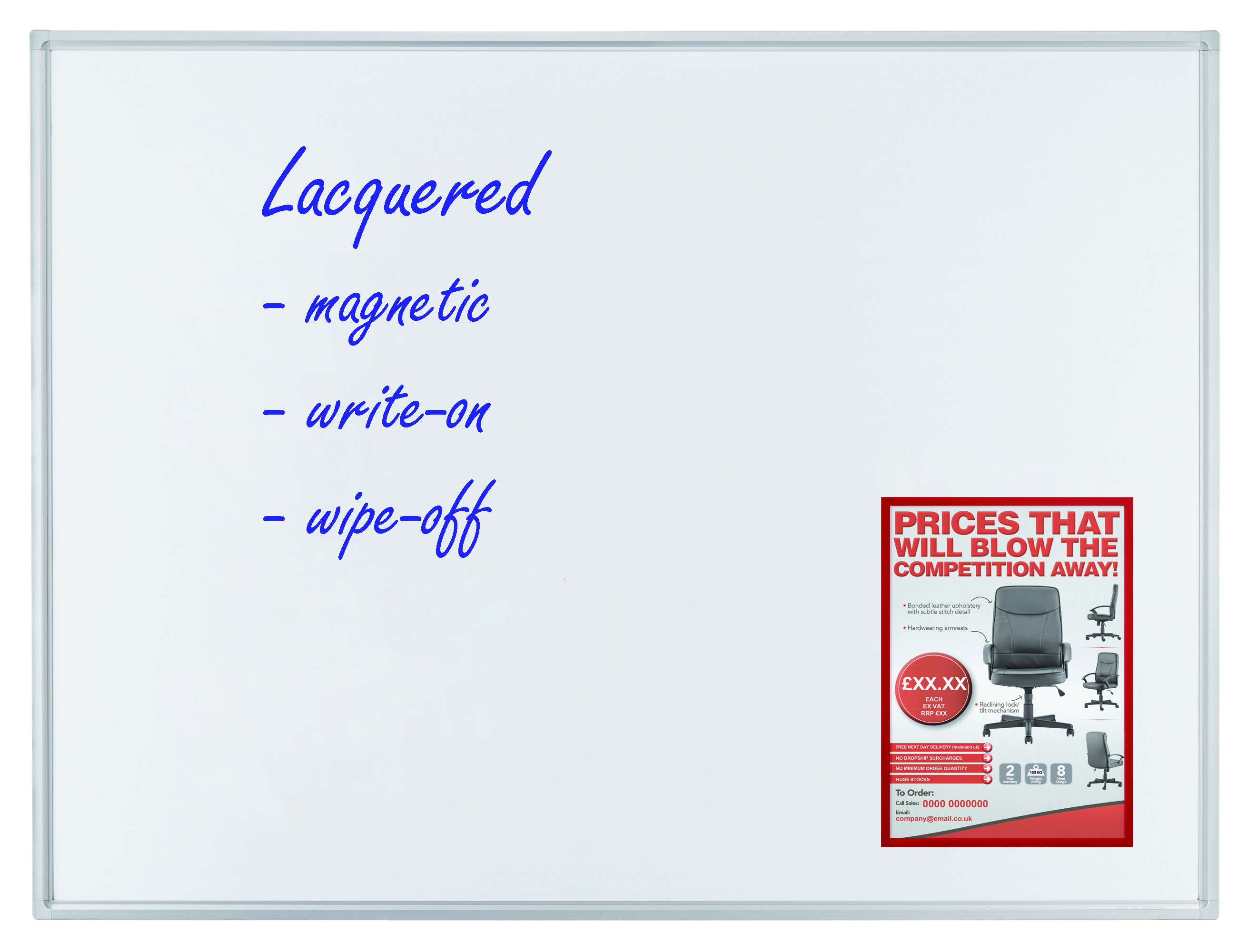 Whiteboard ECO 120 x 90 CM Lacquered Steel