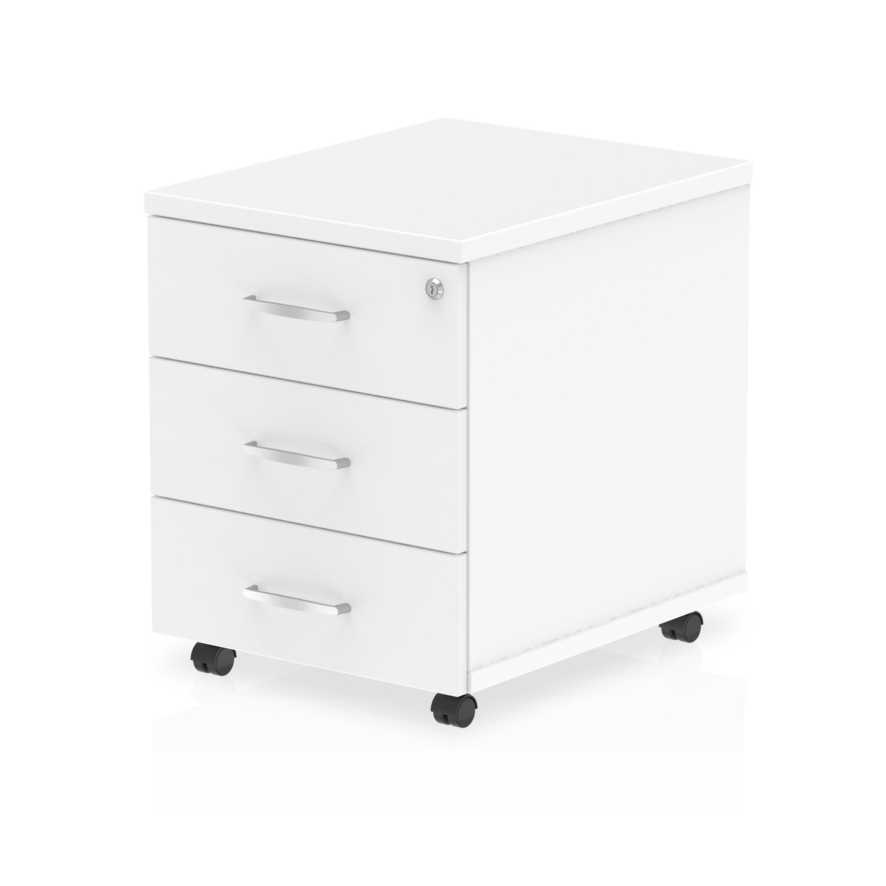 Impulse Mobile Pedestal 3 Drawer White