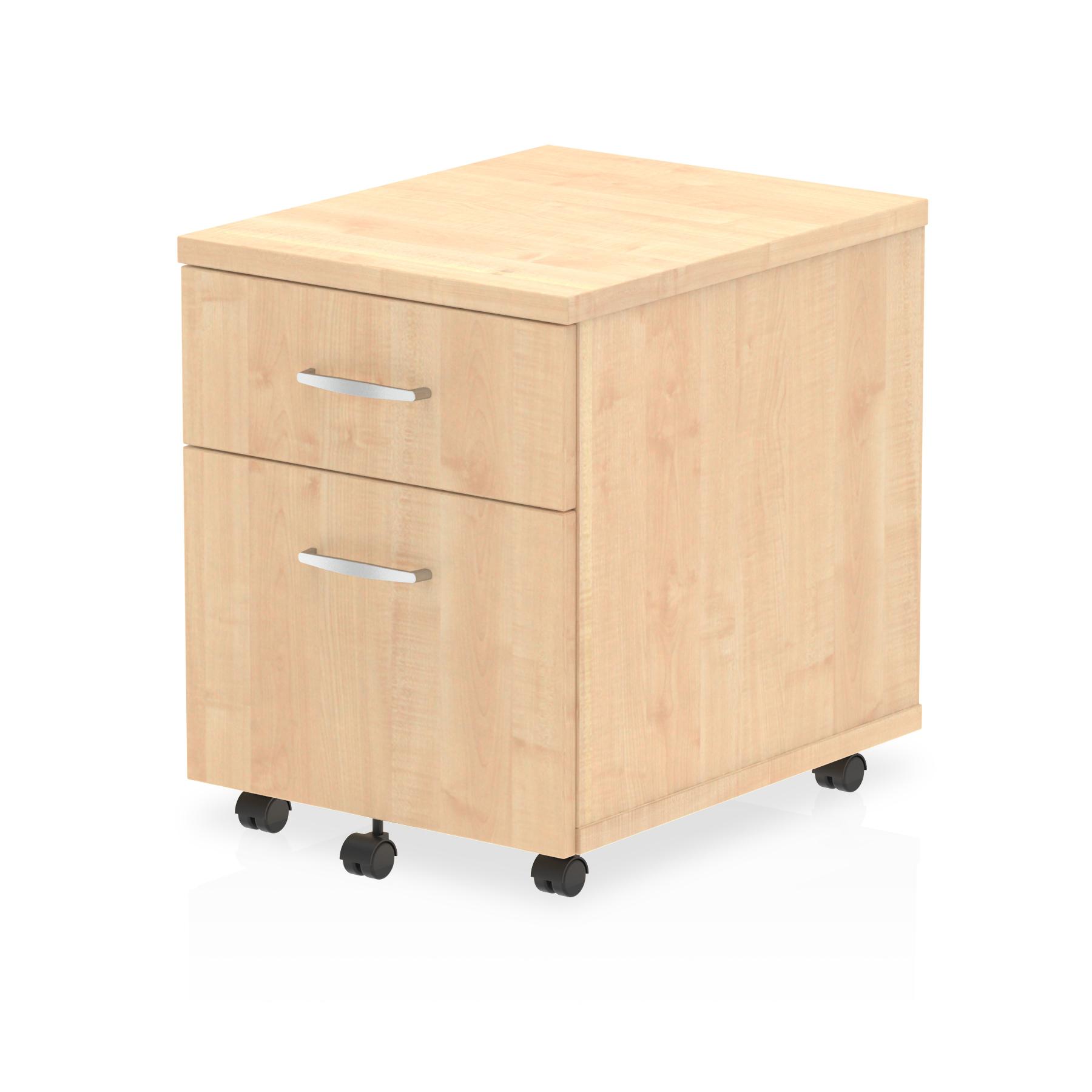 Impulse Mobile Pedestal 2 Drawer Maple