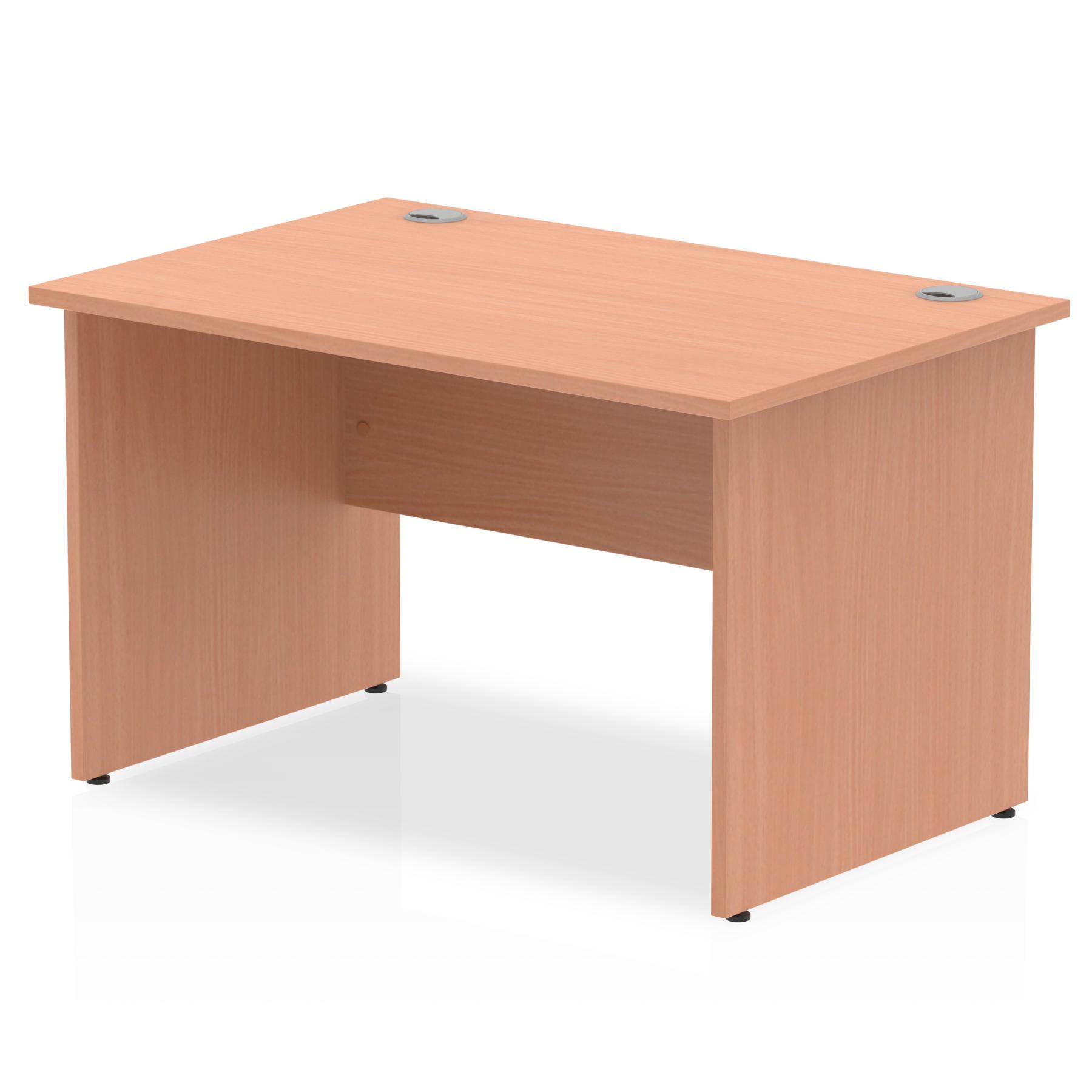 Rectangular Desks Impulse 1200 x 800mm Straight Desk Beech Top Panel End Leg I000371