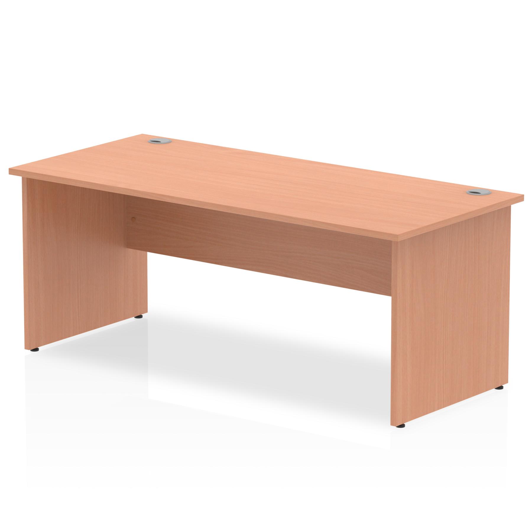 Rectangular Desks Impulse 1800 x 800mm Straight Desk Beech Top Panel End Leg I000374