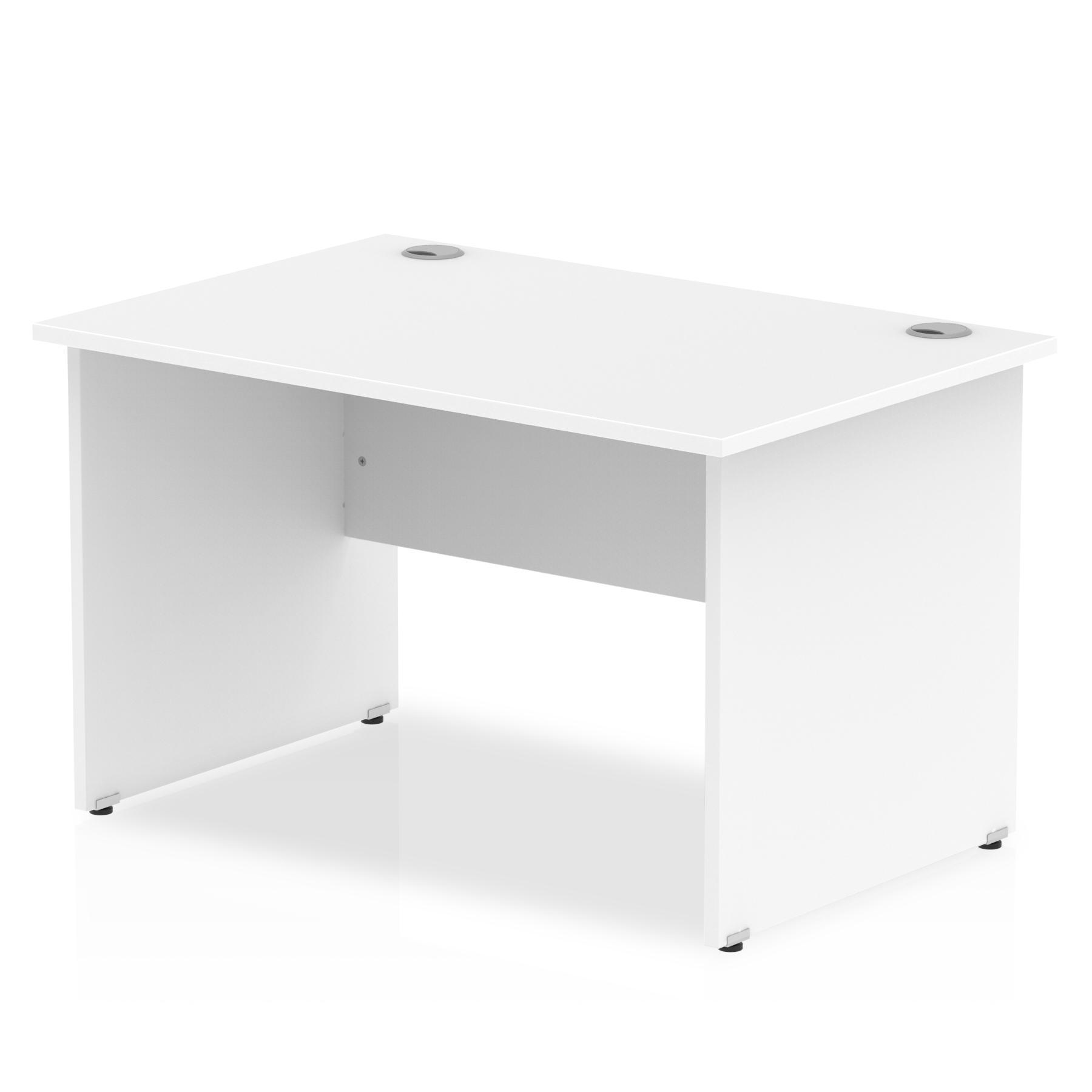 Rectangular Desks Impulse 1200 x 800mm Straight Desk White Top Panel End Leg I000393