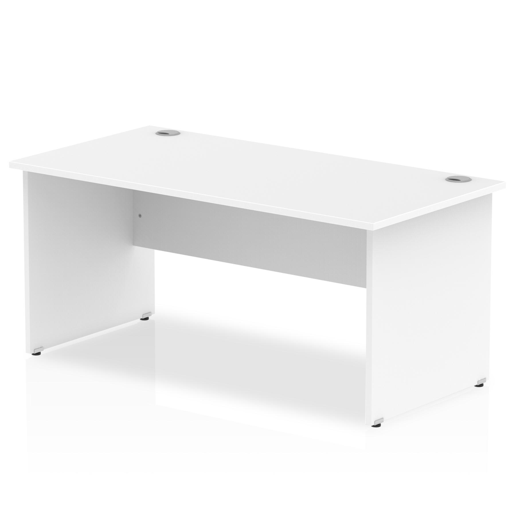 Rectangular Desks Impulse 1800 x 800mm Straight Desk White Top Panel End Leg I000396