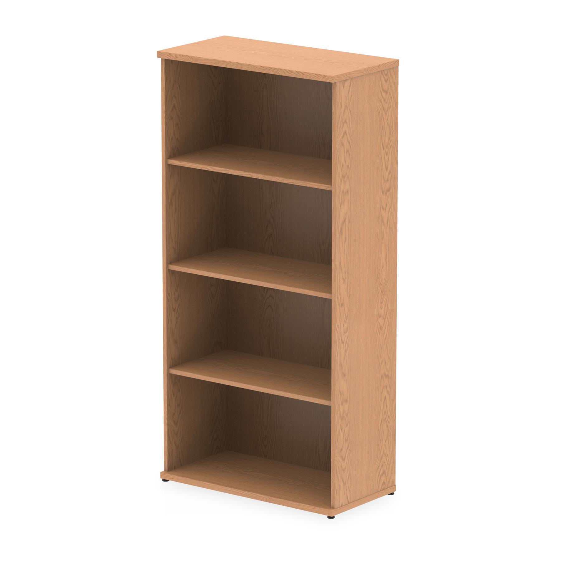 Over 1200mm High Impulse 1600mm Bookcase Oak I000759