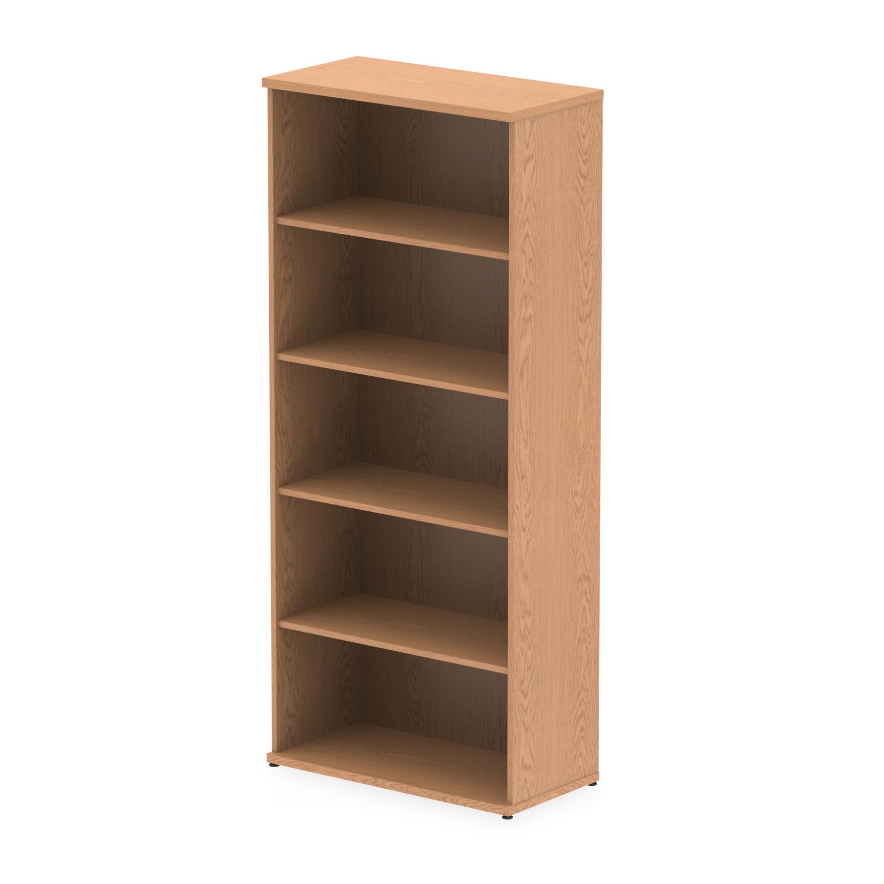Over 1200mm High Impulse 2000mm Bookcase Oak I000760