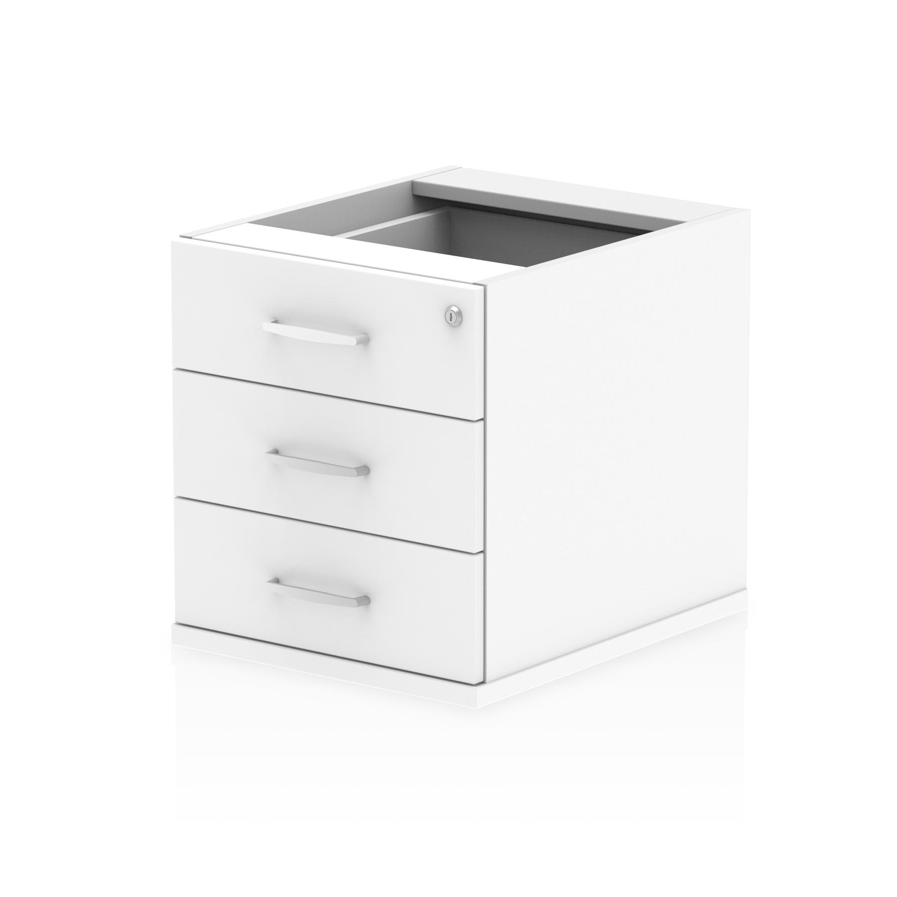 3 Drawer Impulse 3 Drawer Fixed Pedestal White I001647