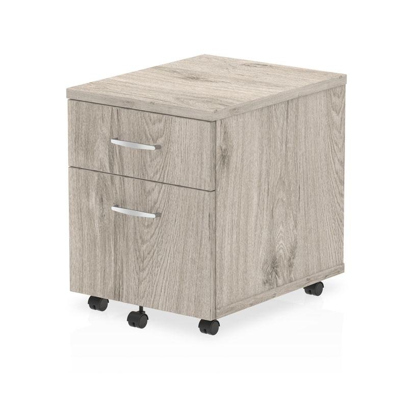 2 Drawer Impulse 2 Drawer Mobile Pedestal Grey Oak I003223