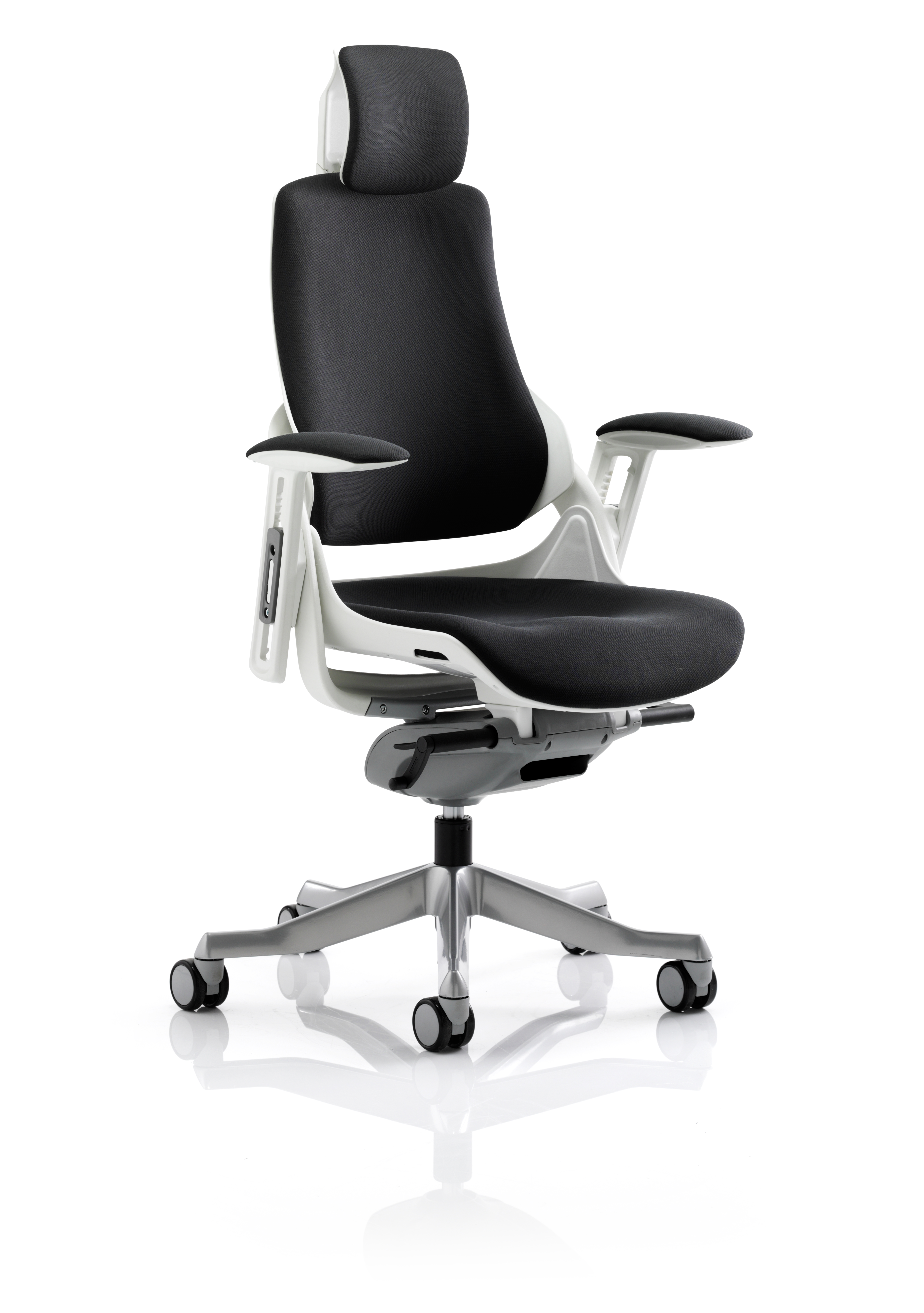 Executive Chairs Zure Black Fabric With Arms With Headrest KC0161