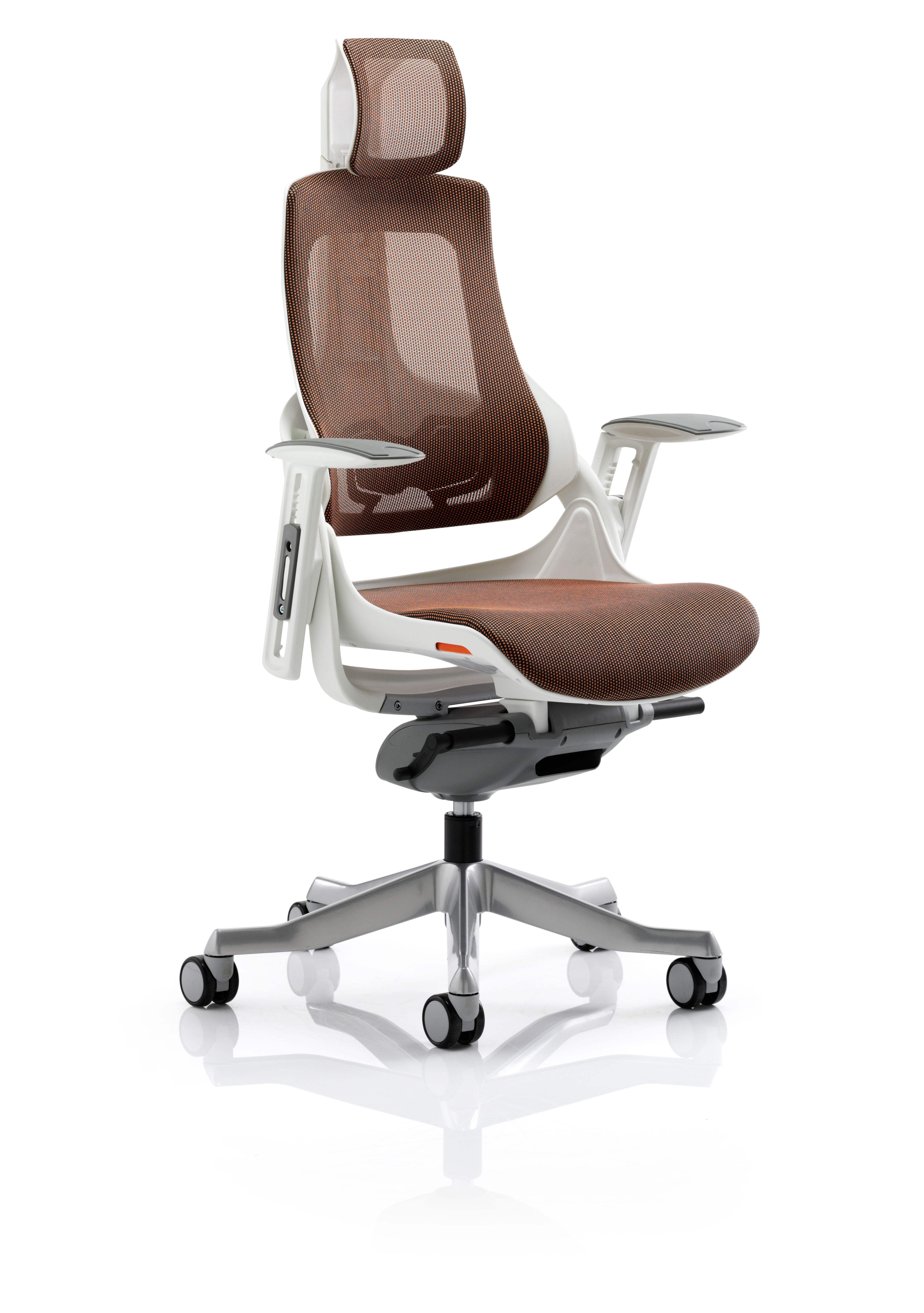 Executive Chairs Zure Mandarin Mesh With Arms With Headrest KC0163