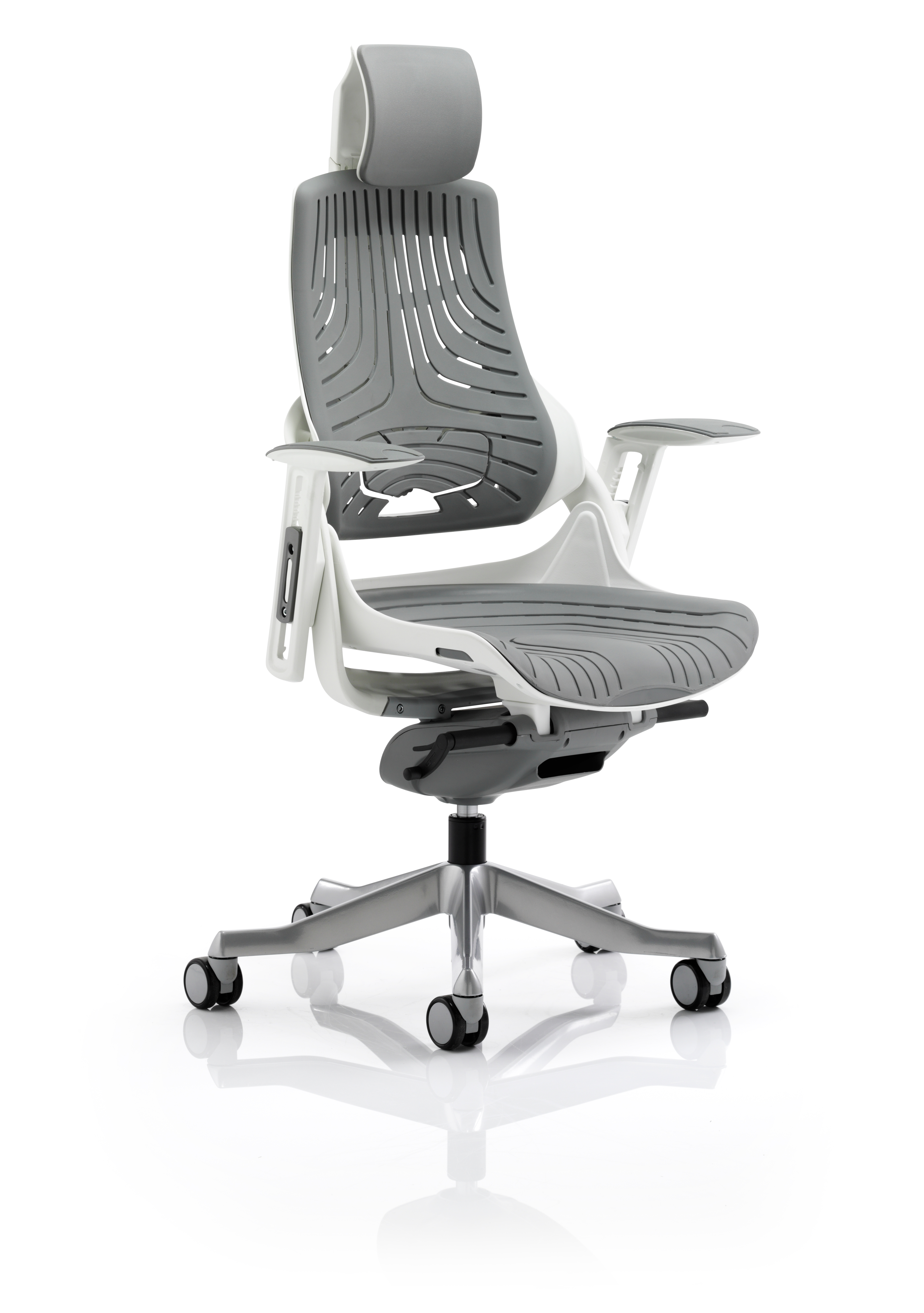 Executive Chairs Zure Elastomer Gel Grey With Arms With Headrest KC0164