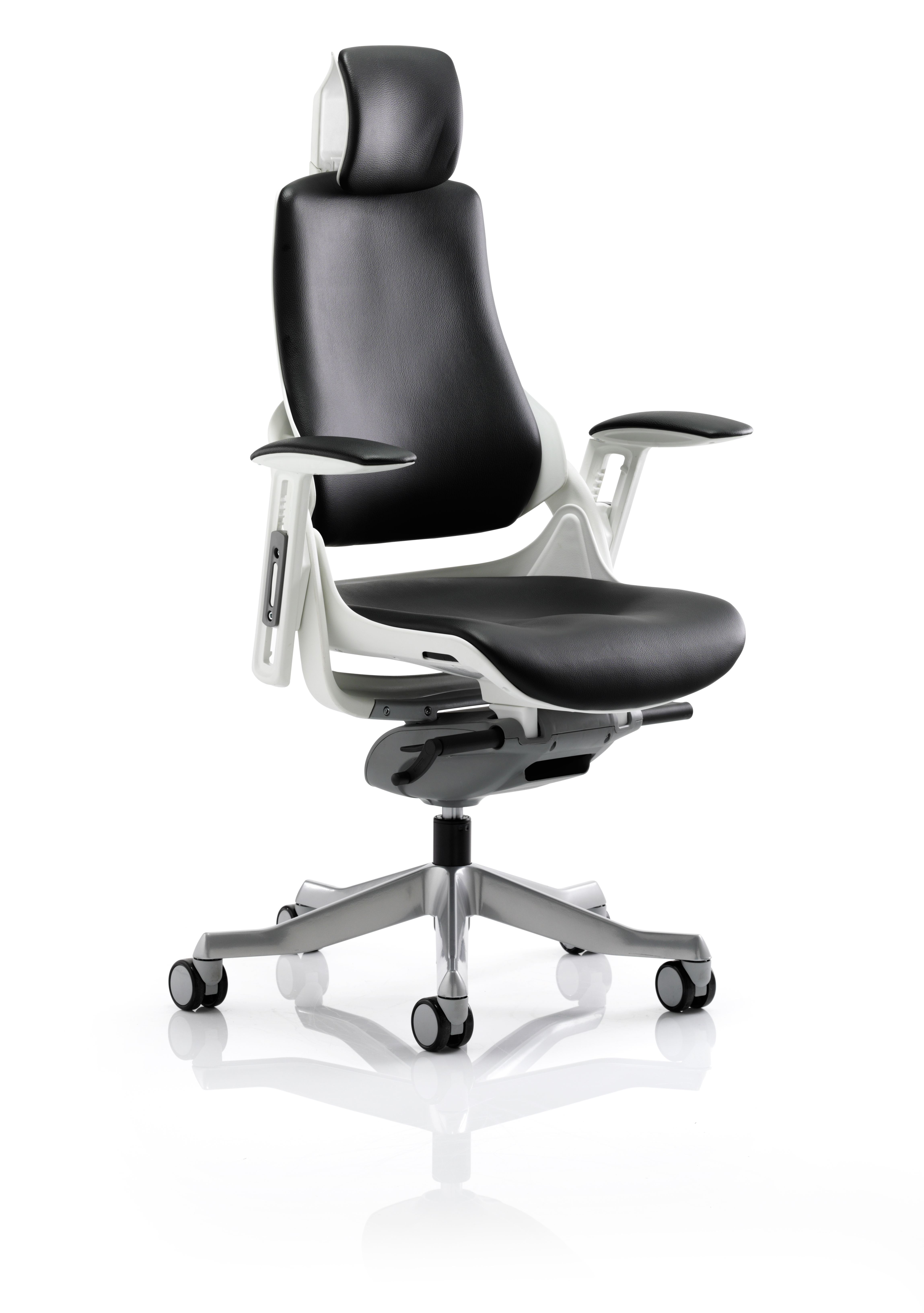 Executive Chairs Zure Black Leather With Arms With Headrest KC0166