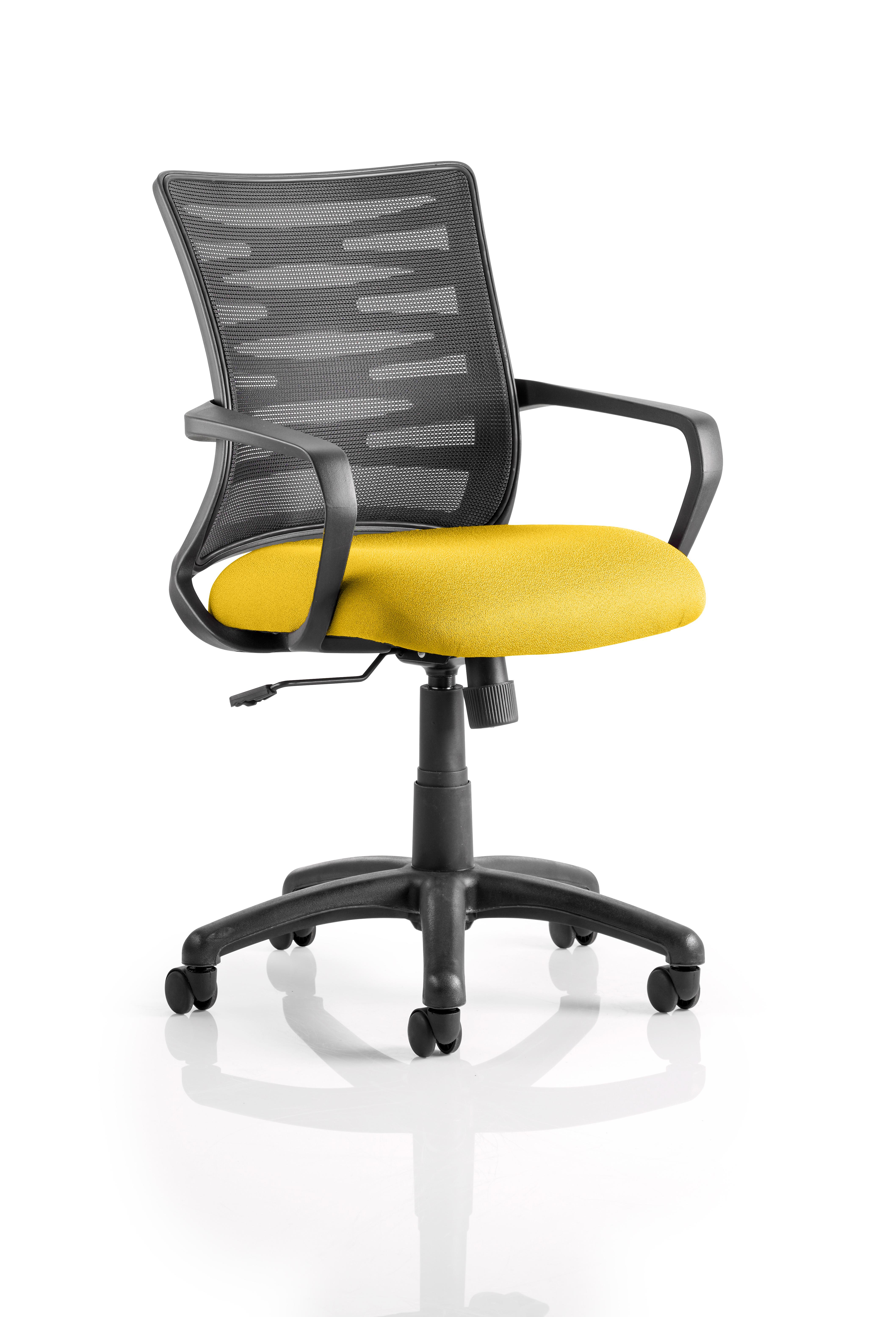 Vortex Task Operator Chair Mesh Back Bespoke Seat Senna Yellow KCUP0605
