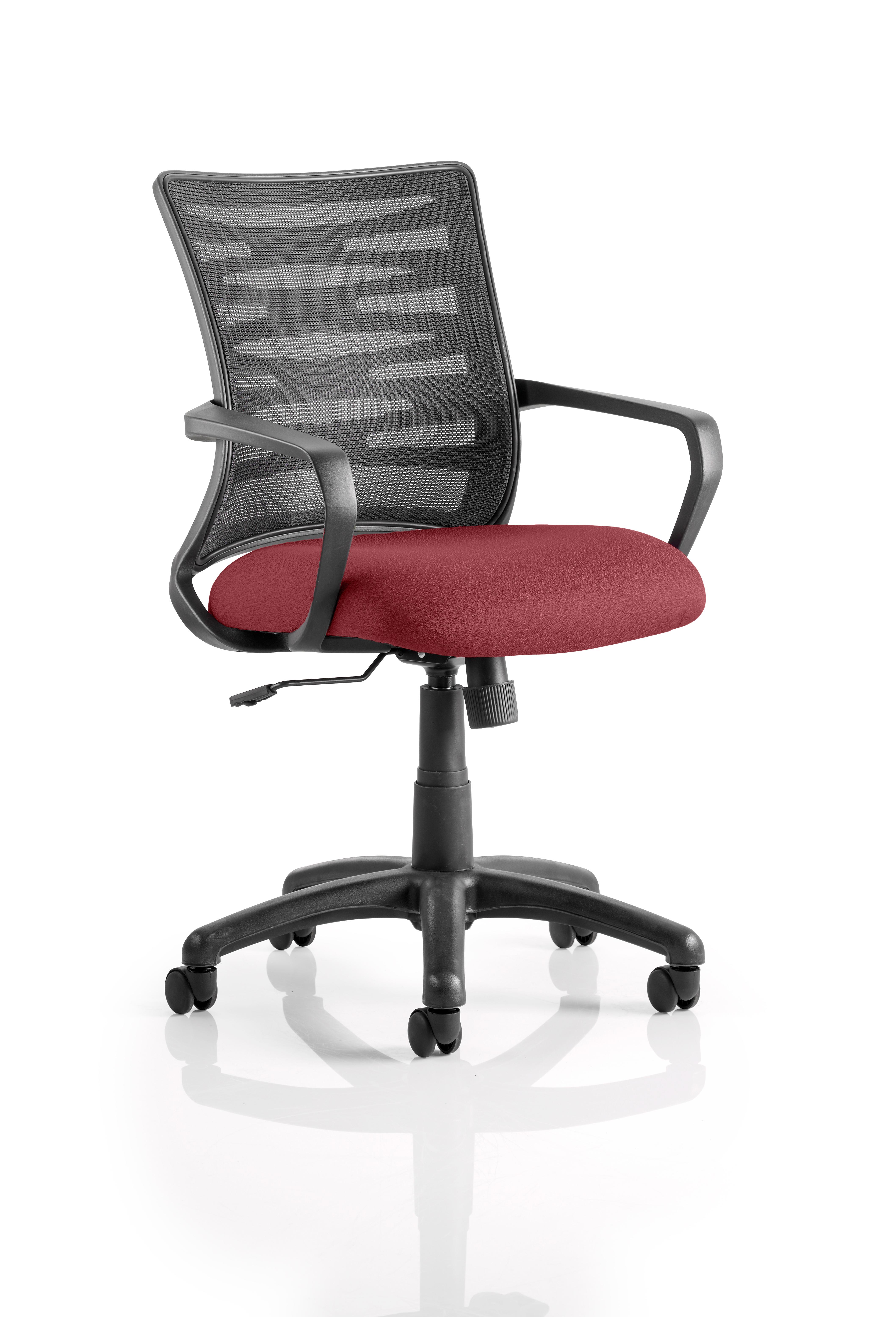 Vortex Task Operator Chair Mesh Back Bespoke Seat Ginseng Chilli KCUP0606