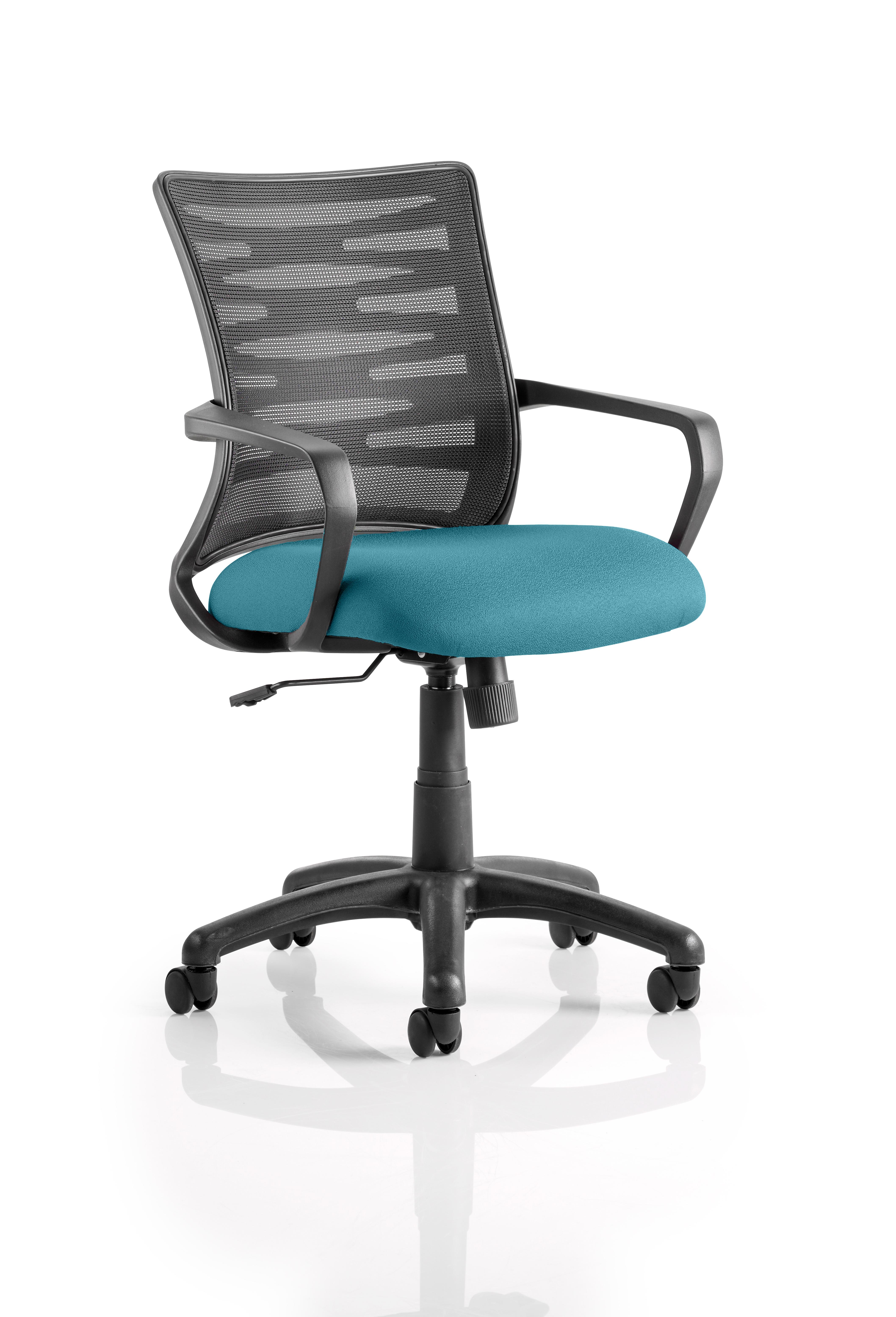 Vortex Task Operator Chair Mesh Back Bespoke Seat Maringa Teal KCUP0607