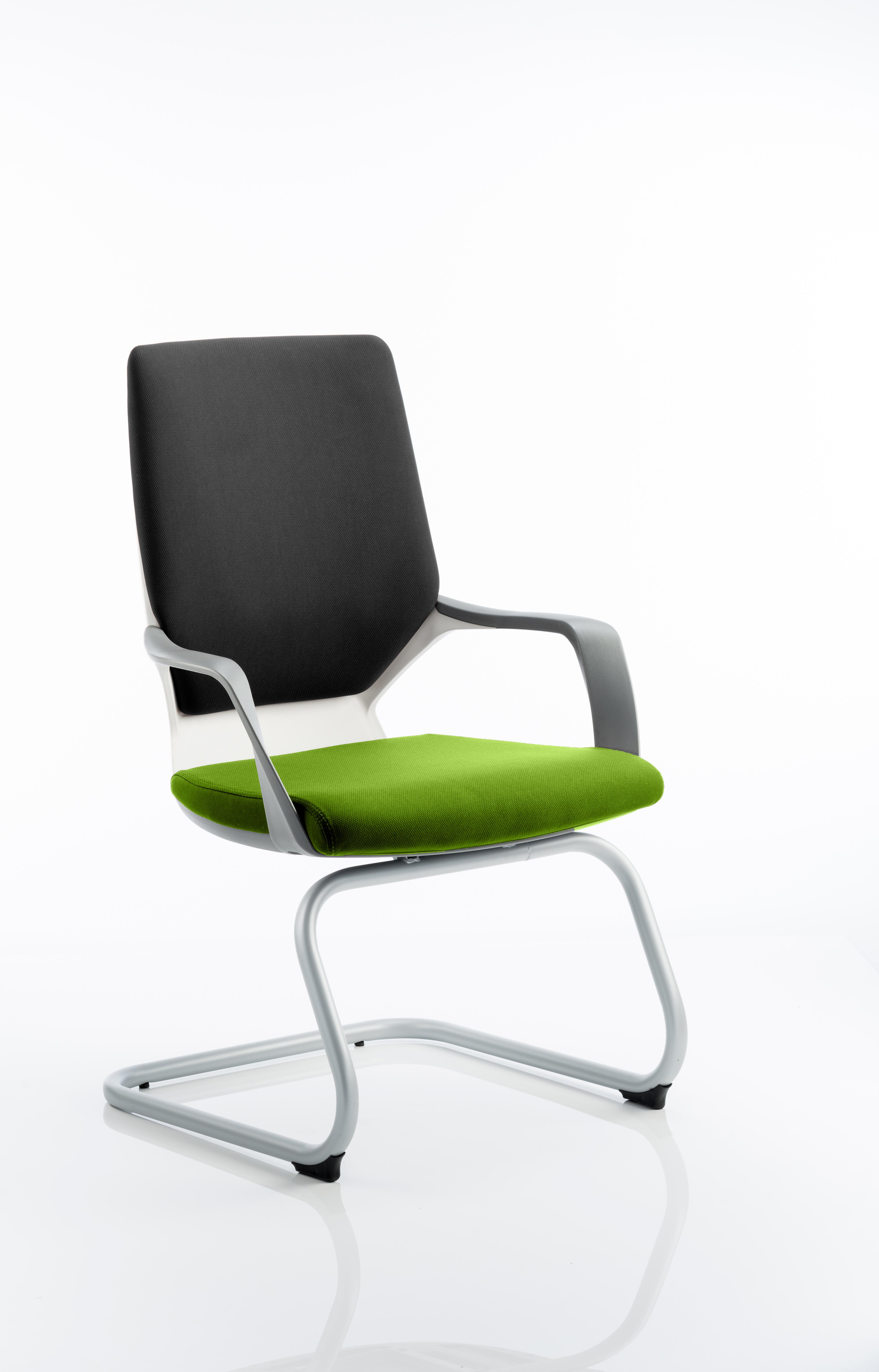 Xenon Visitor White Shell Bespoke Colour Seat Myrrh Green