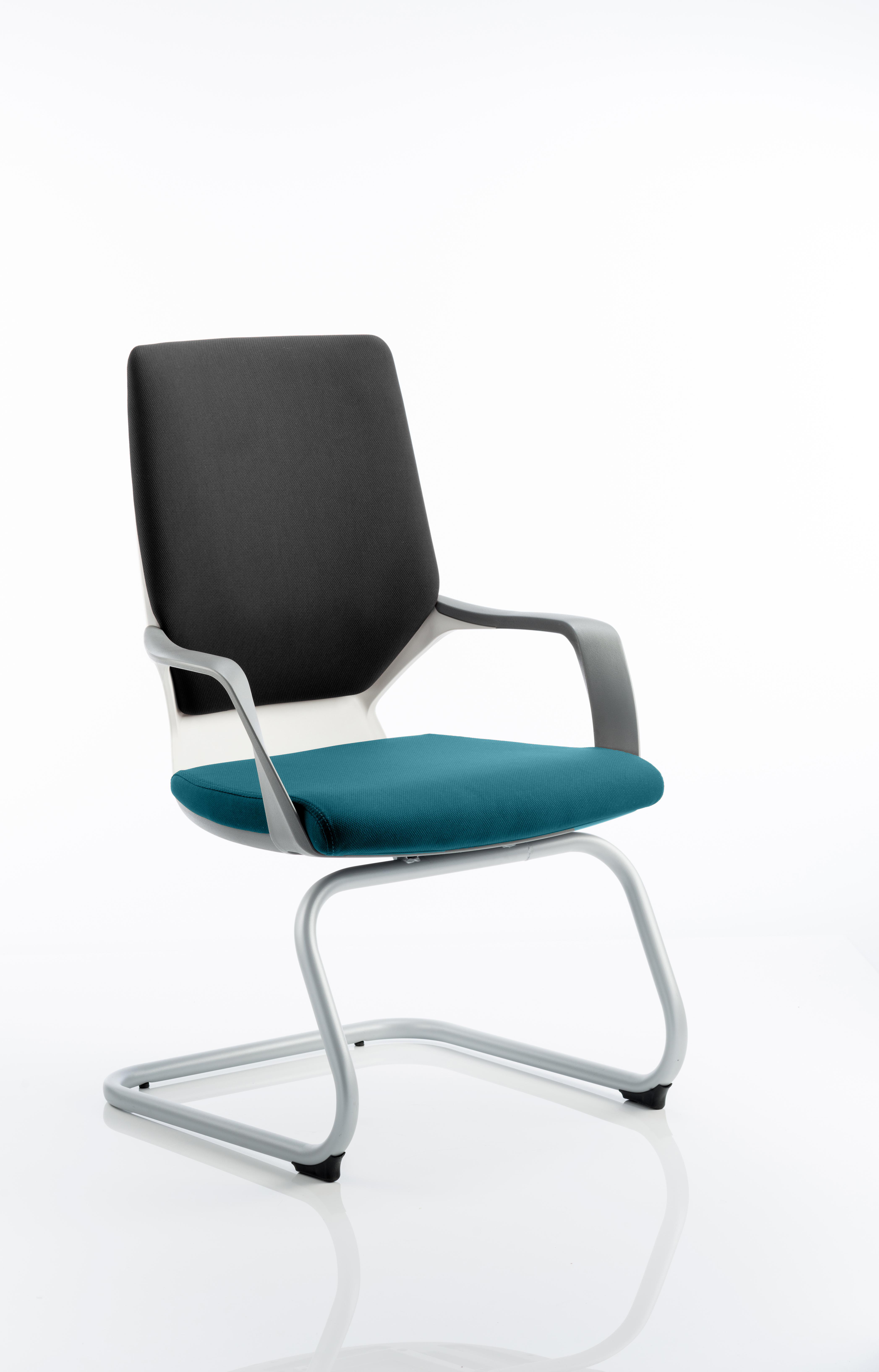 Xenon Visitor White Shell Bespoke Colour Seat Maringa Teal