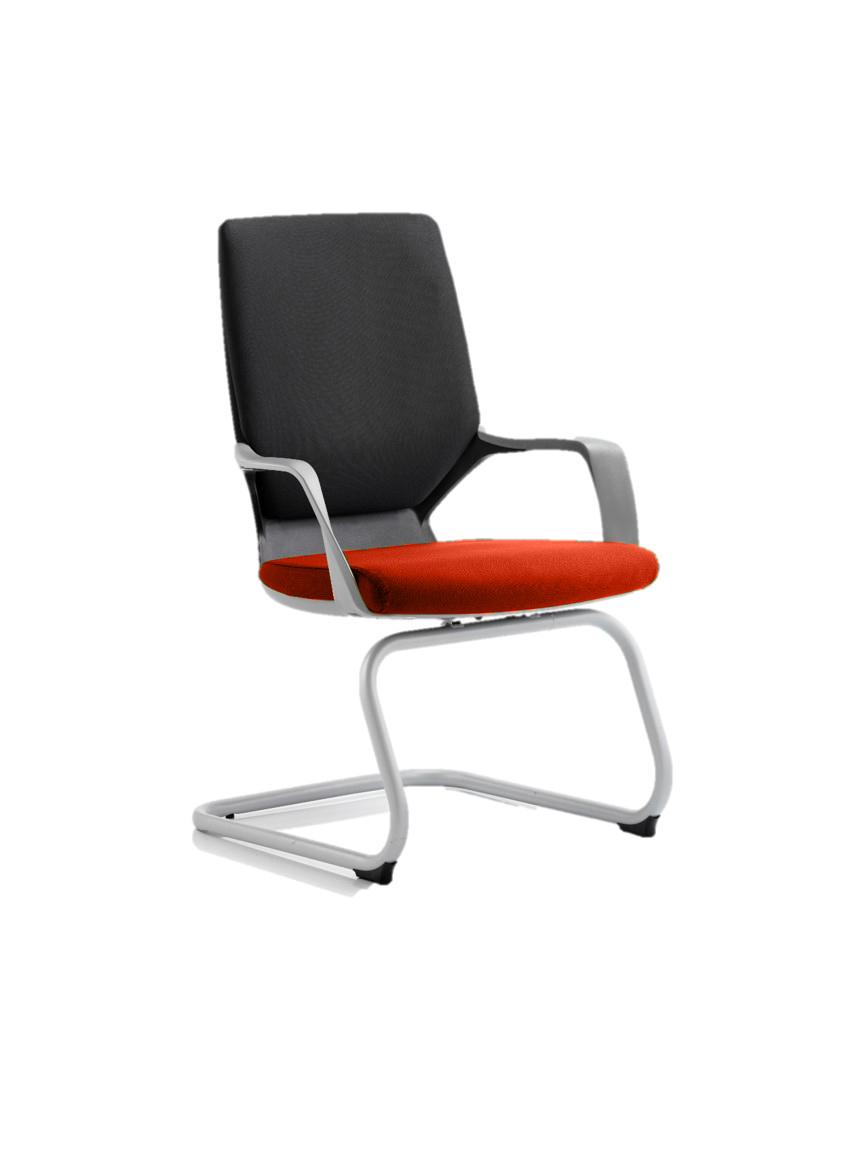 Xenon Visitor Black Shell Bespoke Colour Seat Tabasco Red