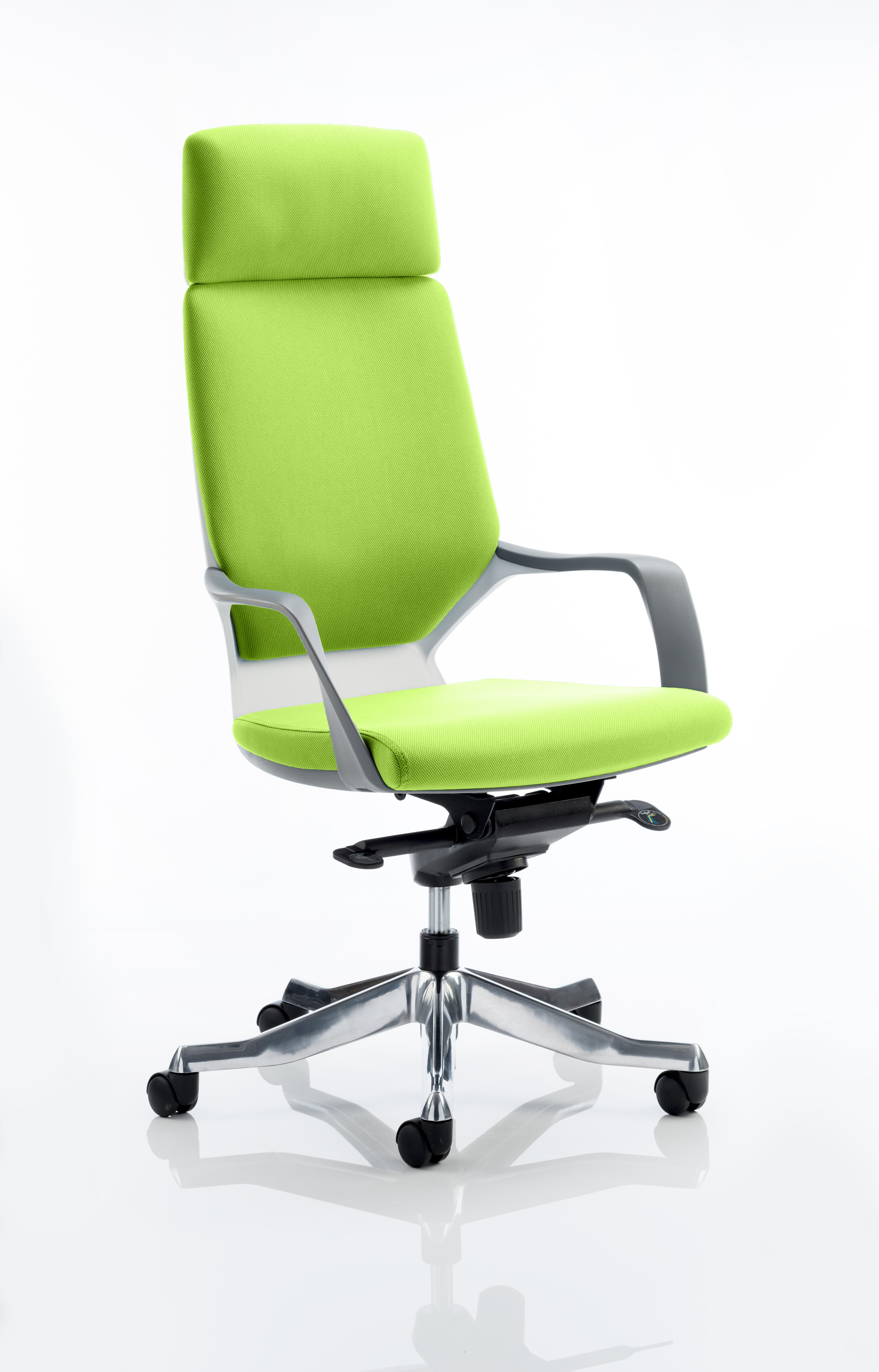 Xenon Headrest White Shell Bespoke Colour Myrrh Green