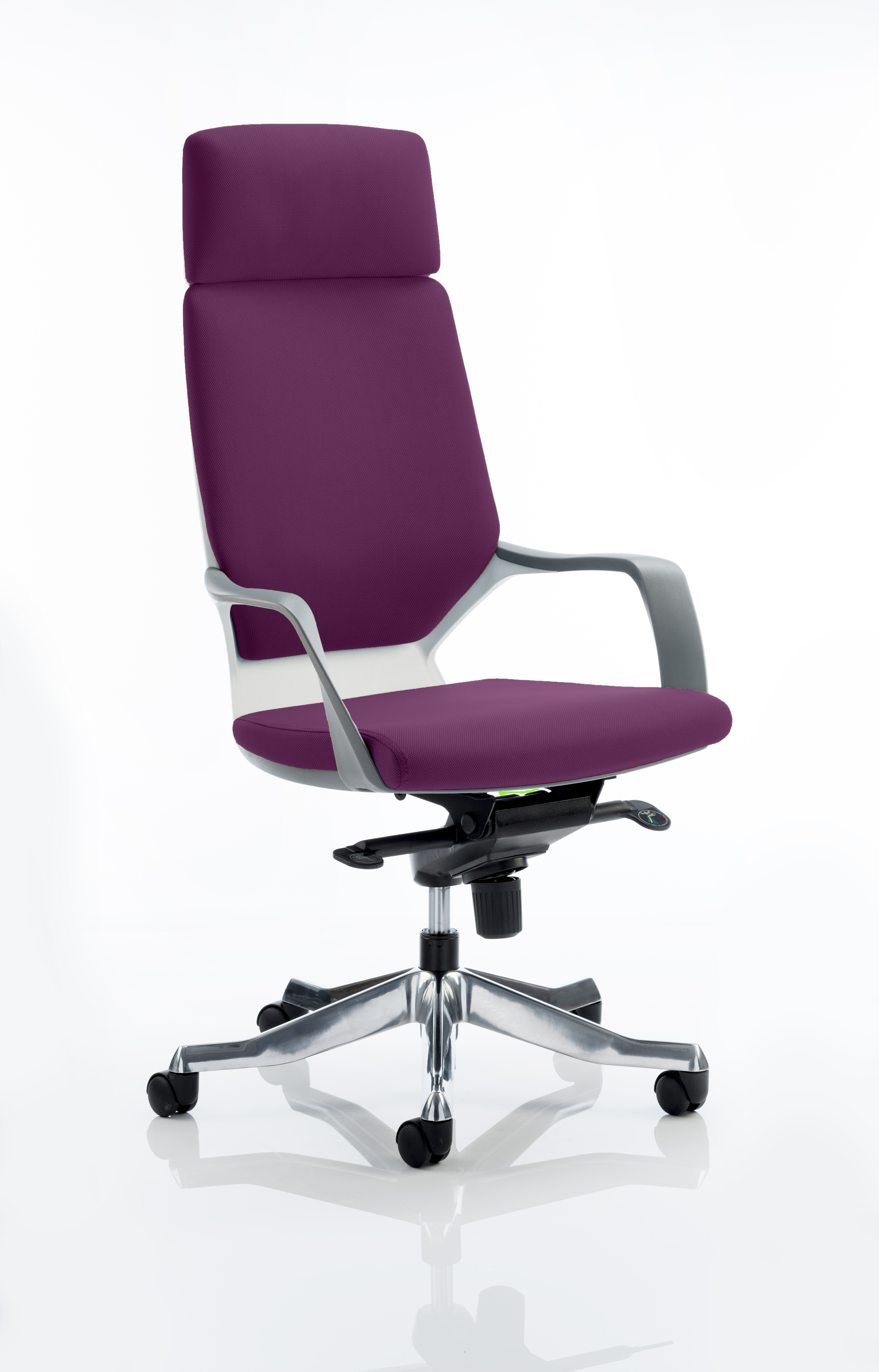 Xenon Headrest White Shell Bespoke Colour Tansy Purple