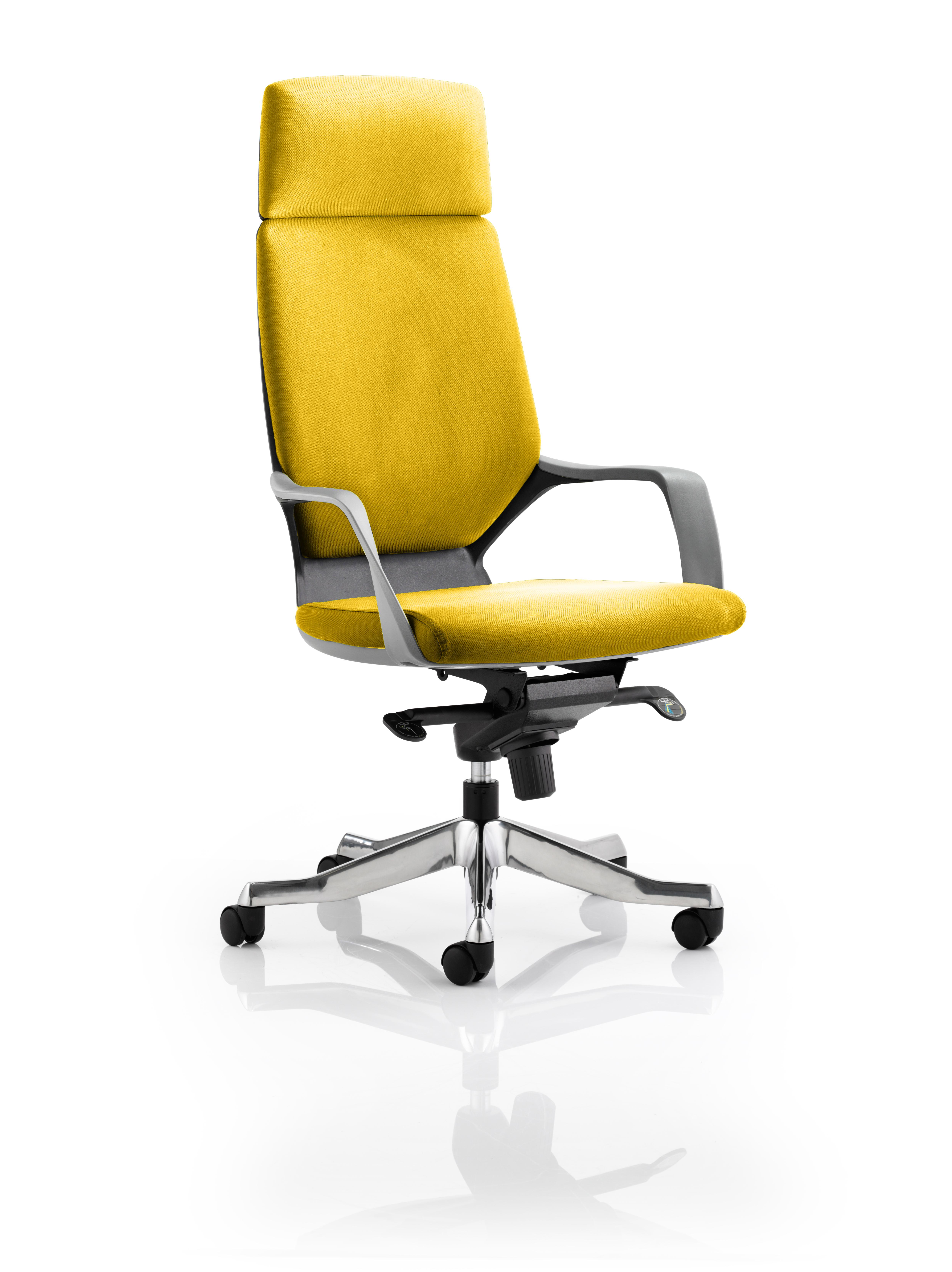 Xenon Headrest Black Shell Bespoke Colour Senna Yellow