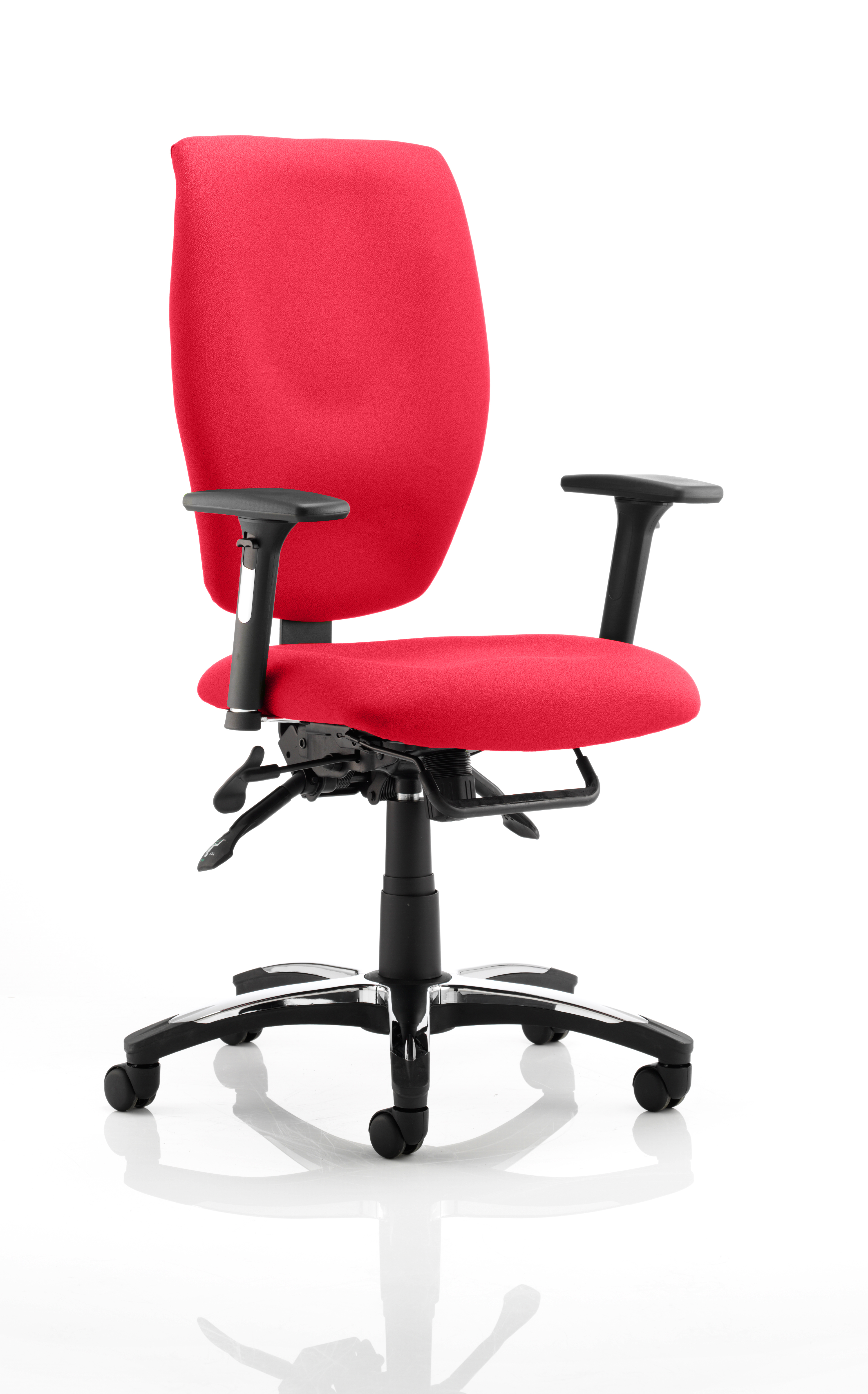 Sierra Executive Chair Black Fabric With Arms In Bergamot Cherry