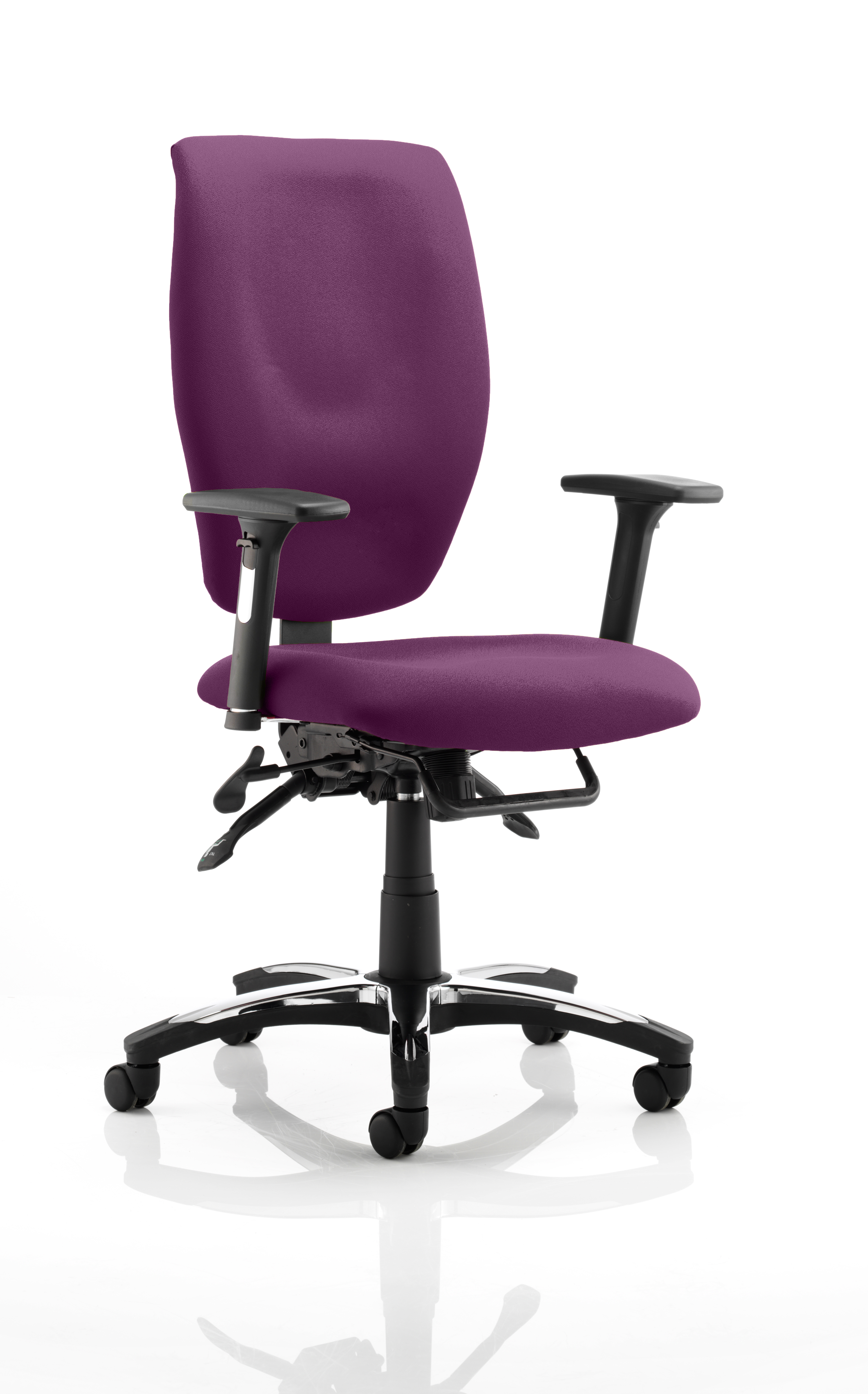 Sierra Executive Chair Black Fabric With Arms In Tansy Purple