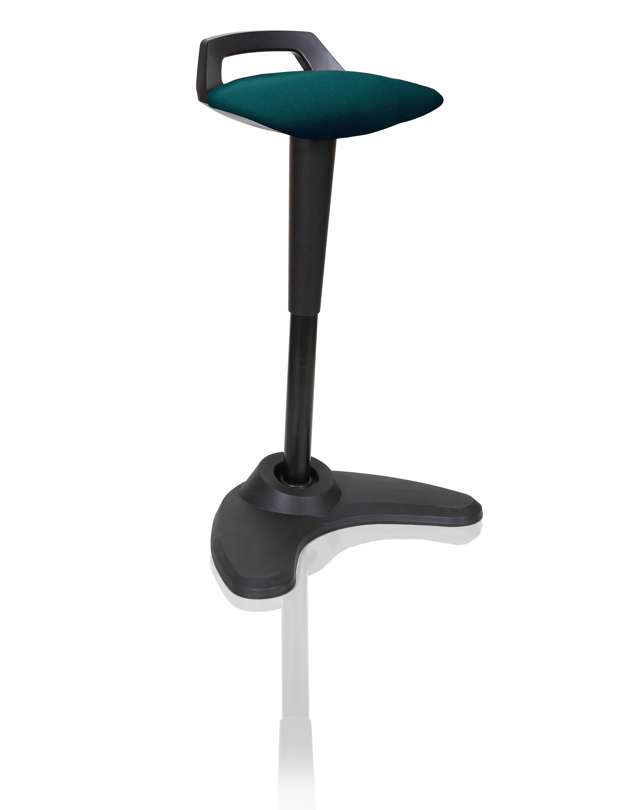 Spry Stool Black Frame Bespoke Seat Maringa Teal KCUP1204