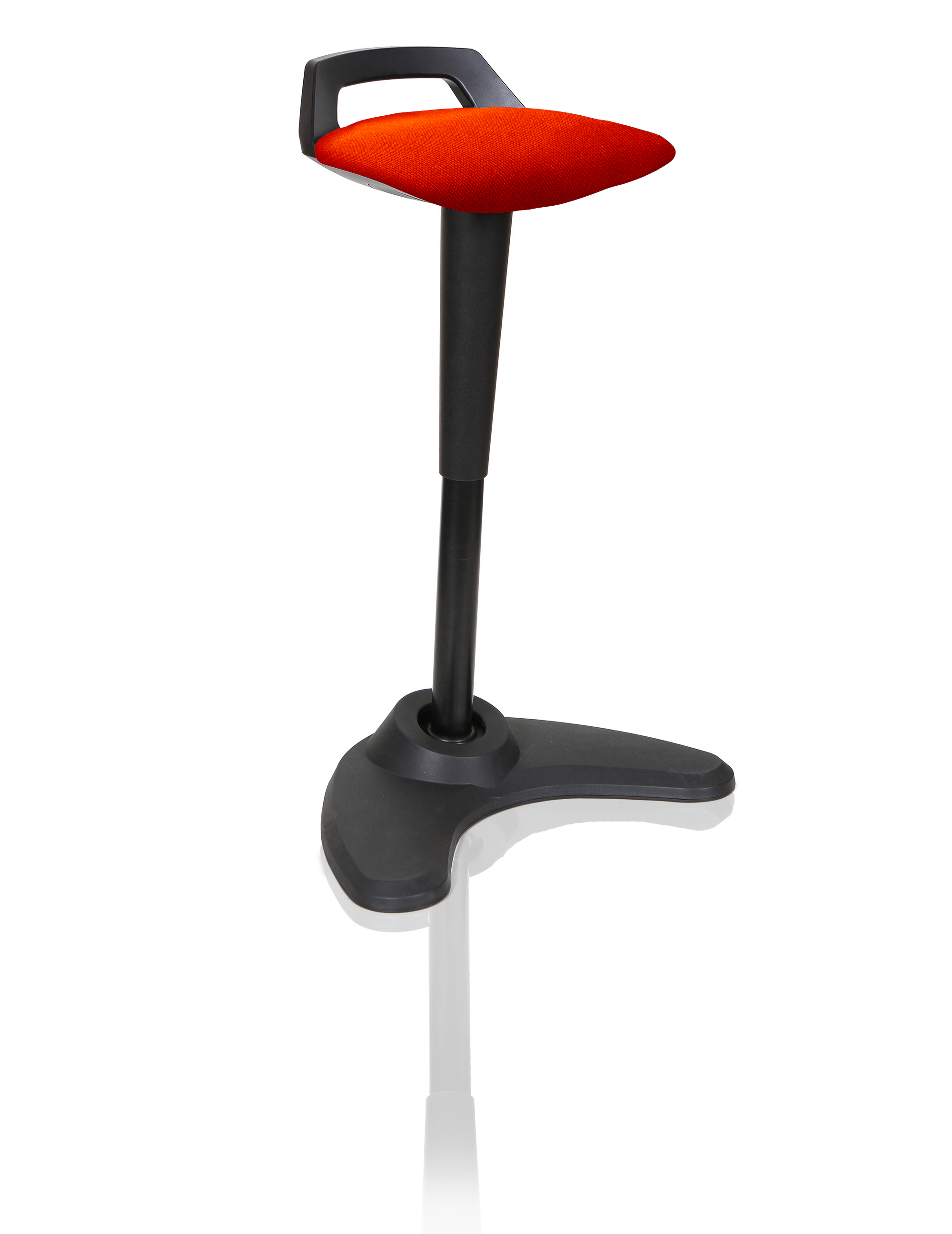 Spry Stool Black Frame Bespoke Seat Tabasco Red KCUP1205