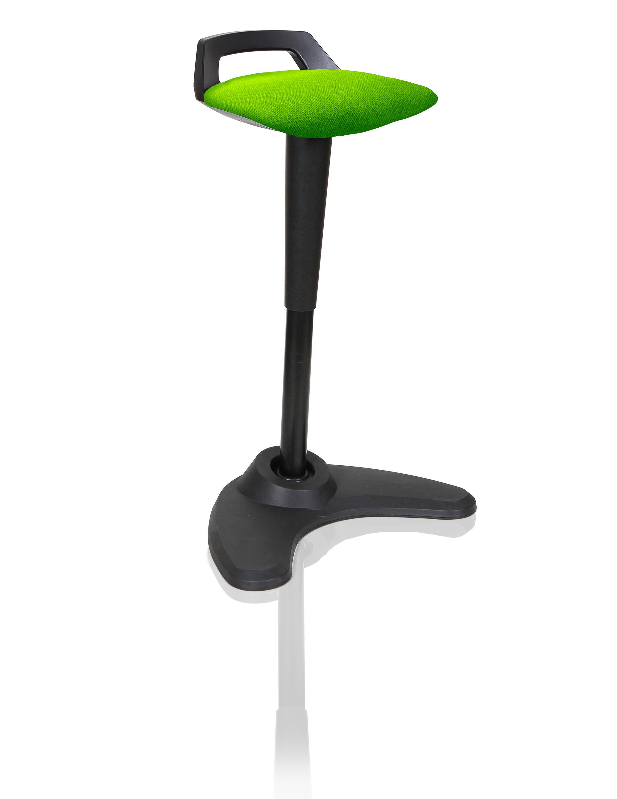 Spry Stool Black Frame Bespoke Seat Myrrh Green KCUP1209