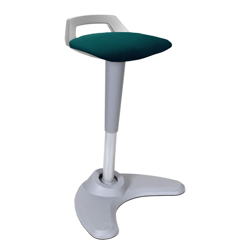 Spry Stool Grey Frame Bespoke Seat Maringa Teal KCUP1212