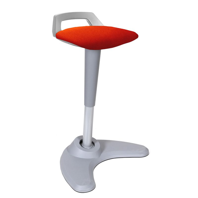 Spry Stool Grey Frame Bespoke Seat Tabasco Red KCUP1213