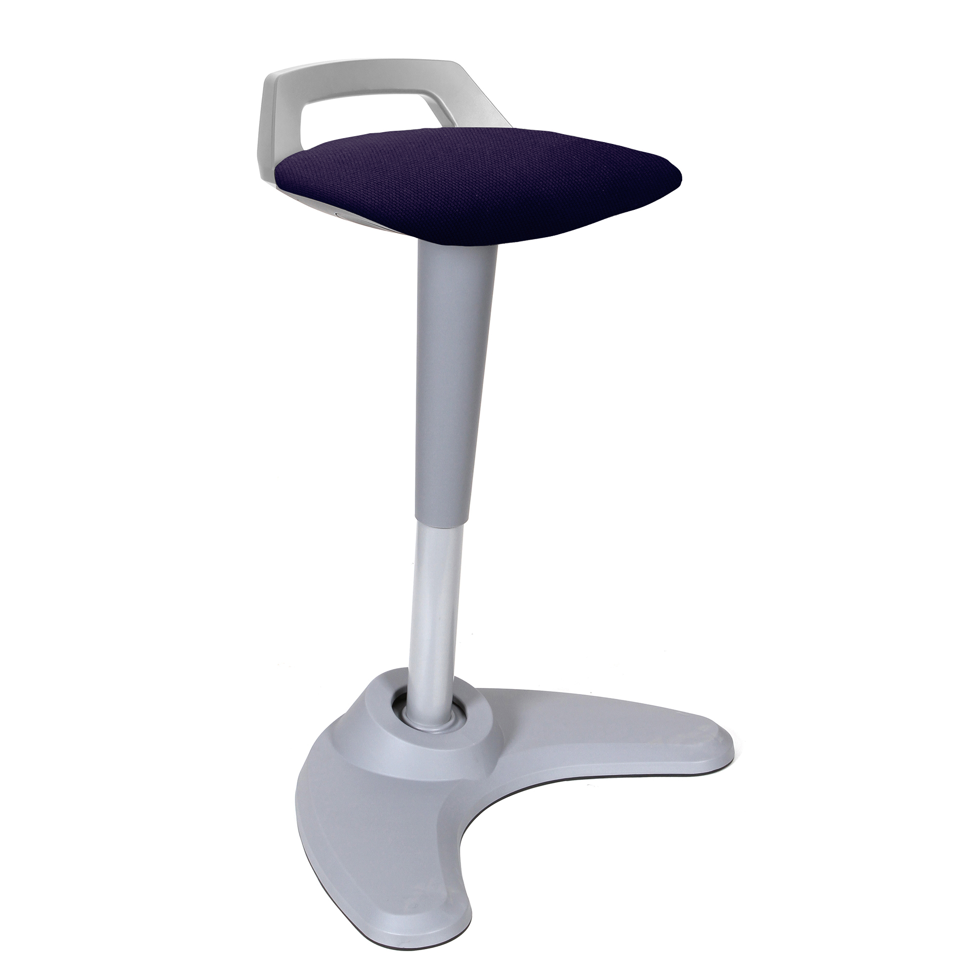 Spry Stool Grey Frame Bespoke Seat Tansy Purple KCUP1214