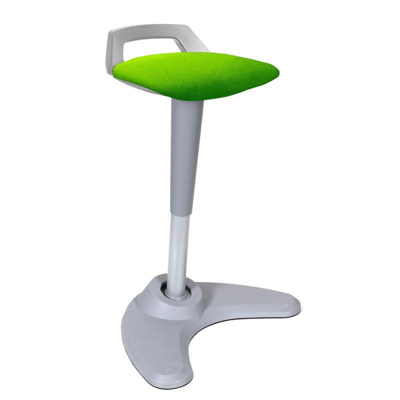 Spry Stool Grey Frame Bespoke Seat Myrrh Green KCUP1217