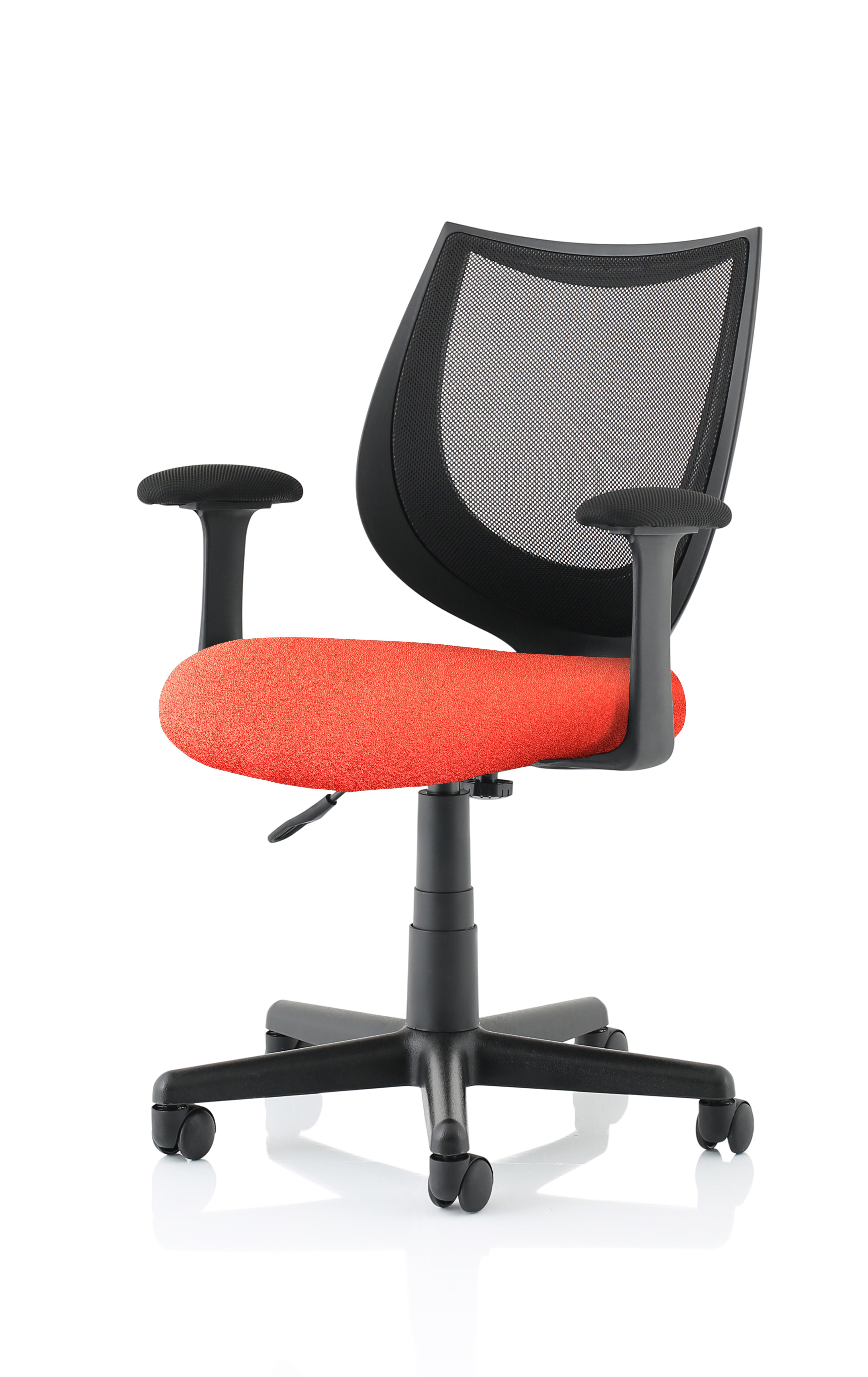 Camden Black Mesh Chair in Tabasco Red