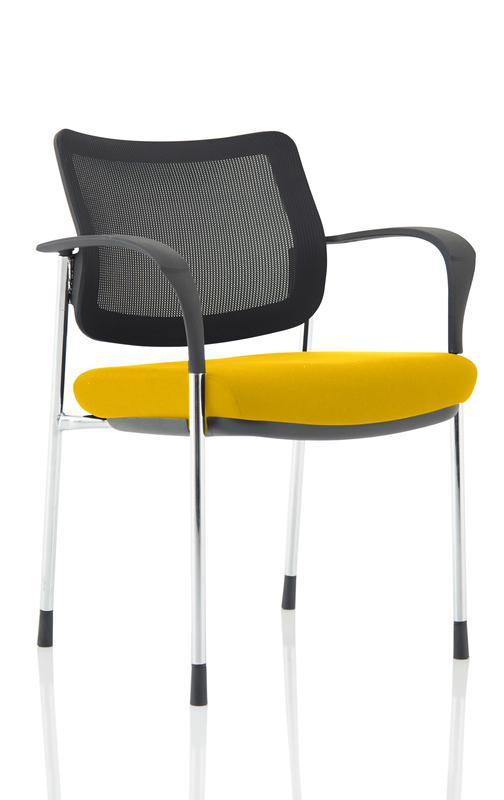 Brunswick Deluxe Mesh Back Chrome Frame Bespoke Yellow