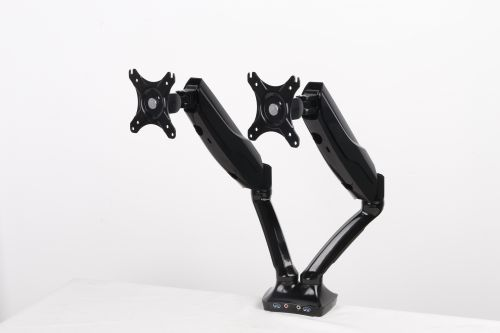 Easy Adjust Dual Monitor Arm in Black