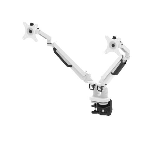 Pose Double Black & White Monitor Arm