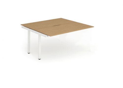 B2B Ext Kit White Frame Bench Desk 1200 Oak