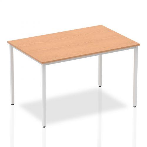 Impulse 1200mm Straight Table Oak Top Silver Box Frame Leg BF00128