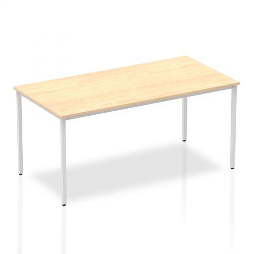 Impulse Straight Table 1600 Maple Box Frame Leg Silver