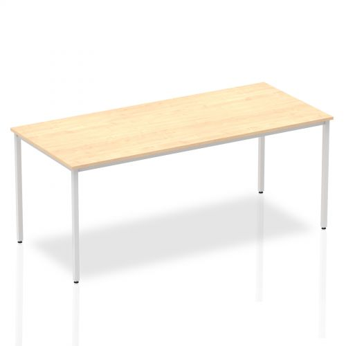 Impulse Straight Table 1800 Maple Box Frame Leg Silver